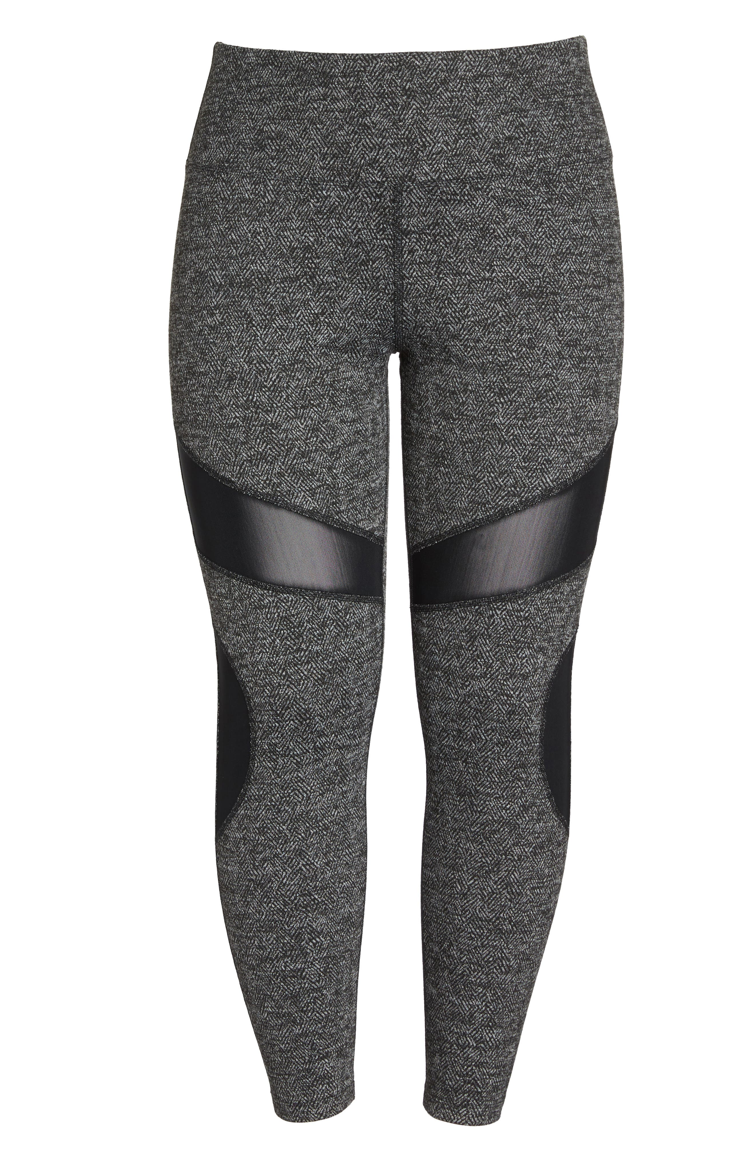 Optic High Waist Leggings,                             Alternate thumbnail 6, color,                             Black