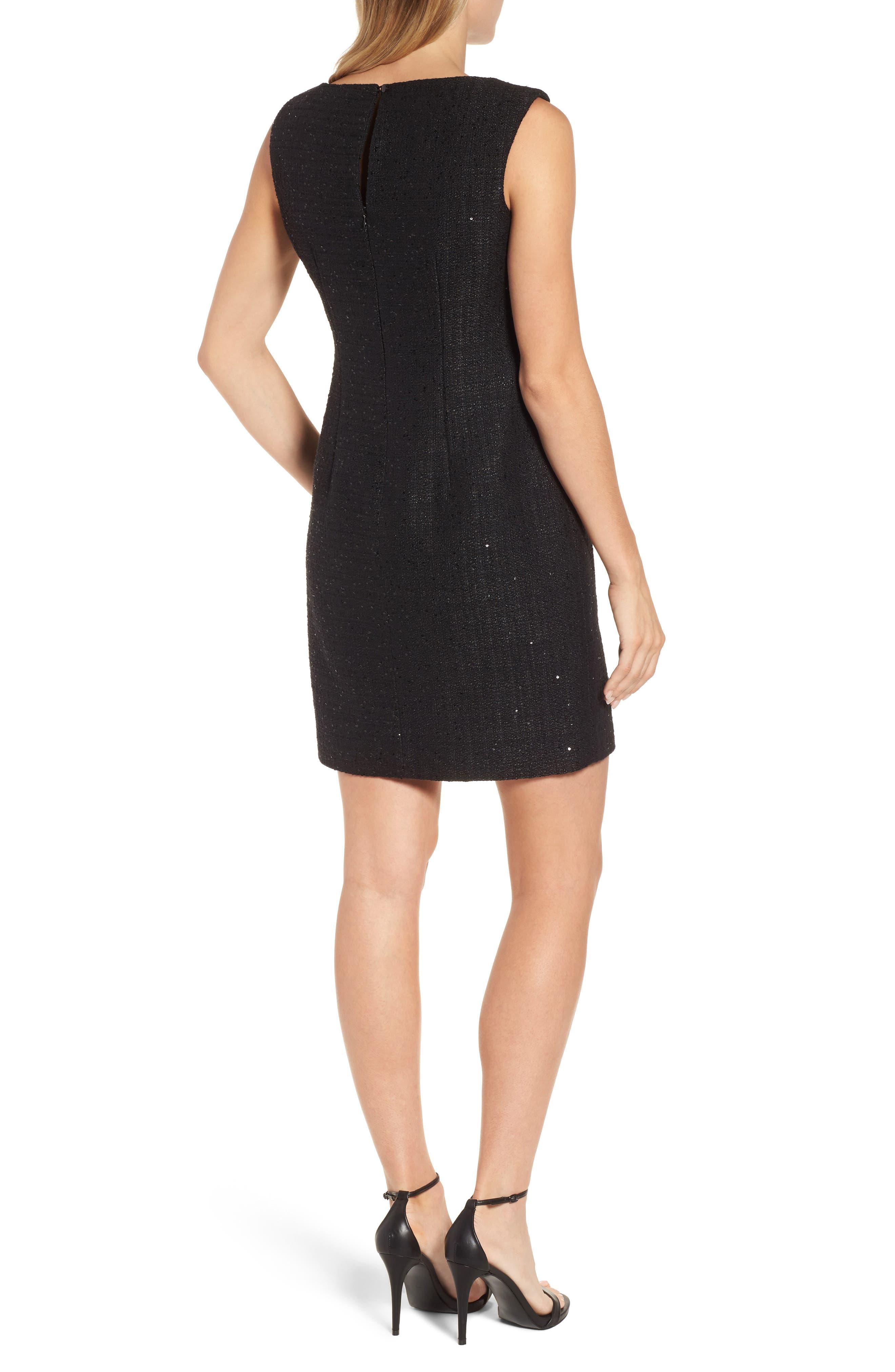 Alternate Image 2  - Anne Klein New York Sequin Tweed Sheath Dress