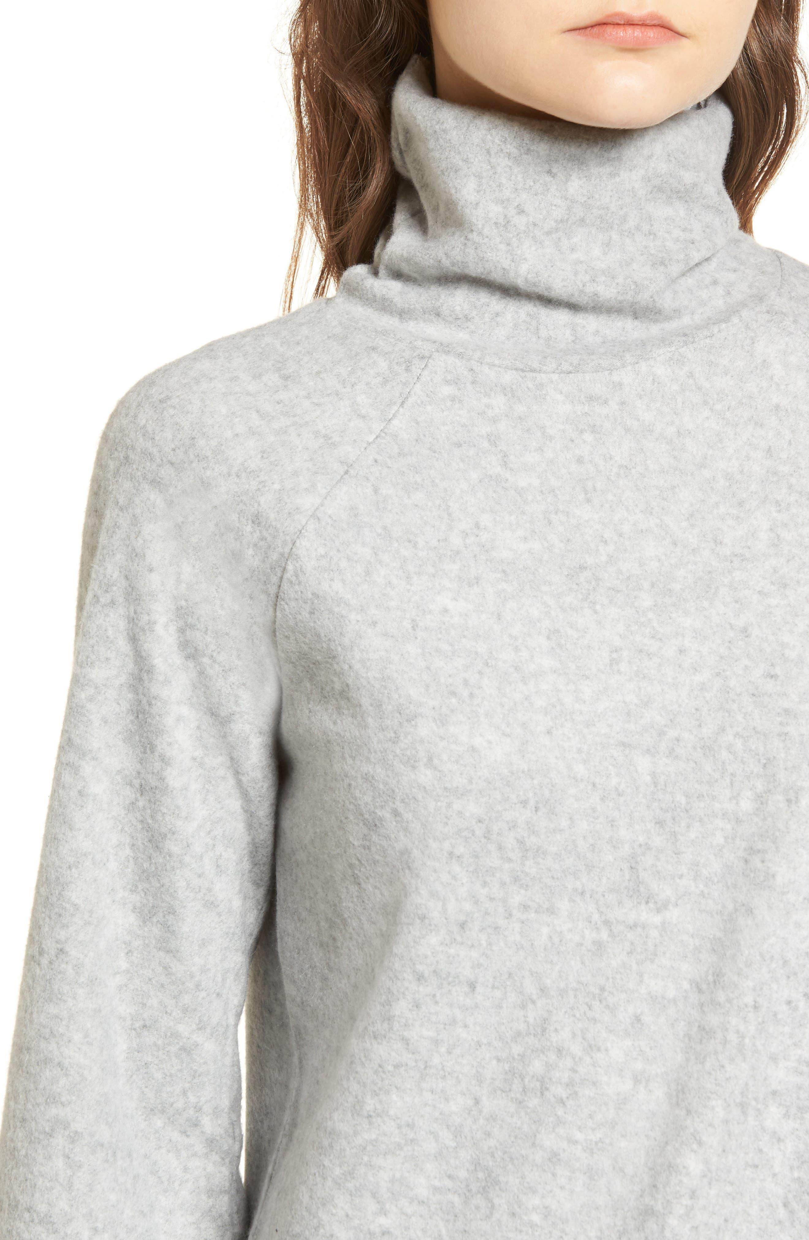Bell Sleeve Sweatshirt,                             Alternate thumbnail 4, color,                             Grey Heather