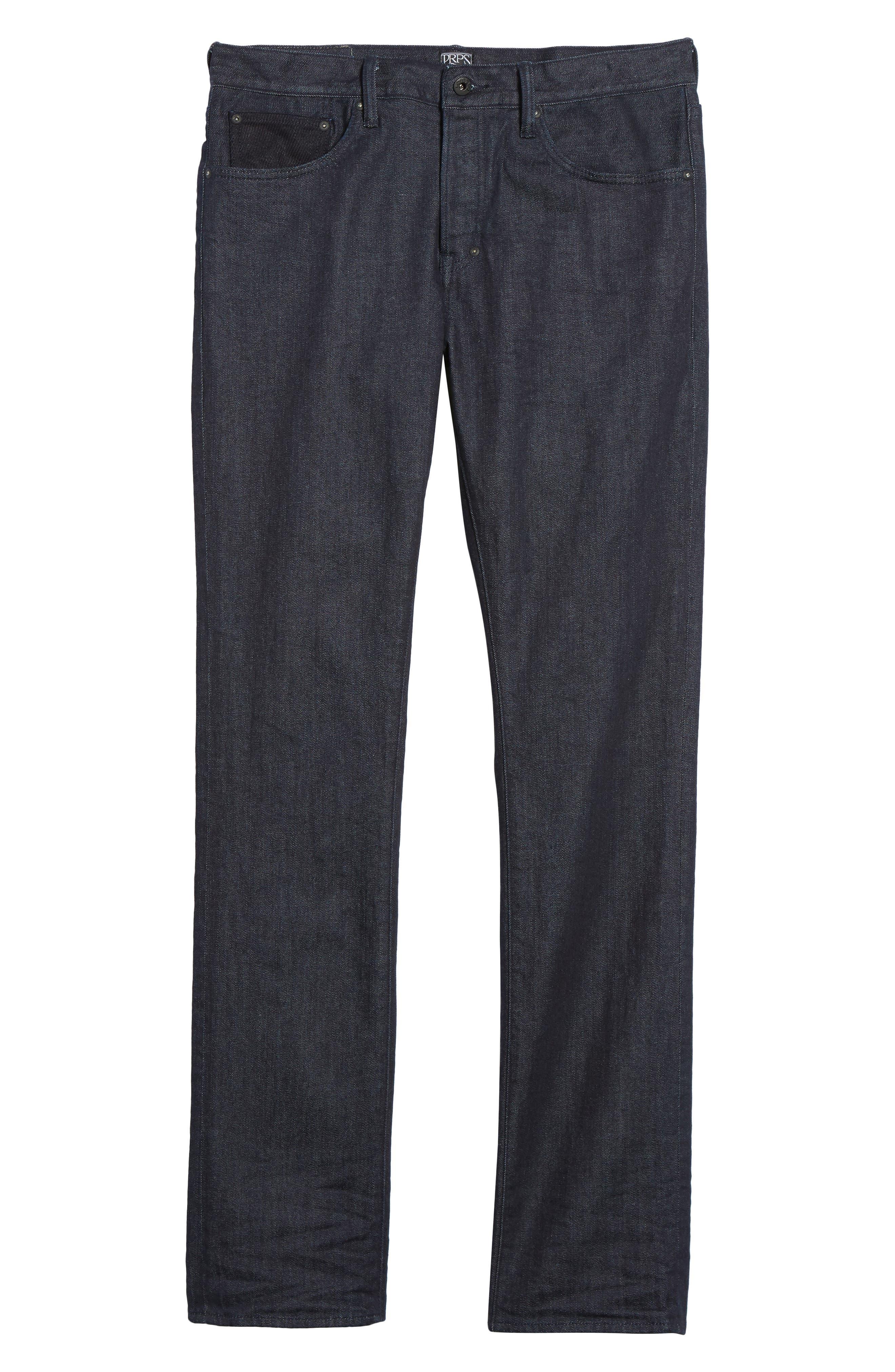 Demon Slim Straight Leg Jeans,                             Alternate thumbnail 6, color,                             Rinse