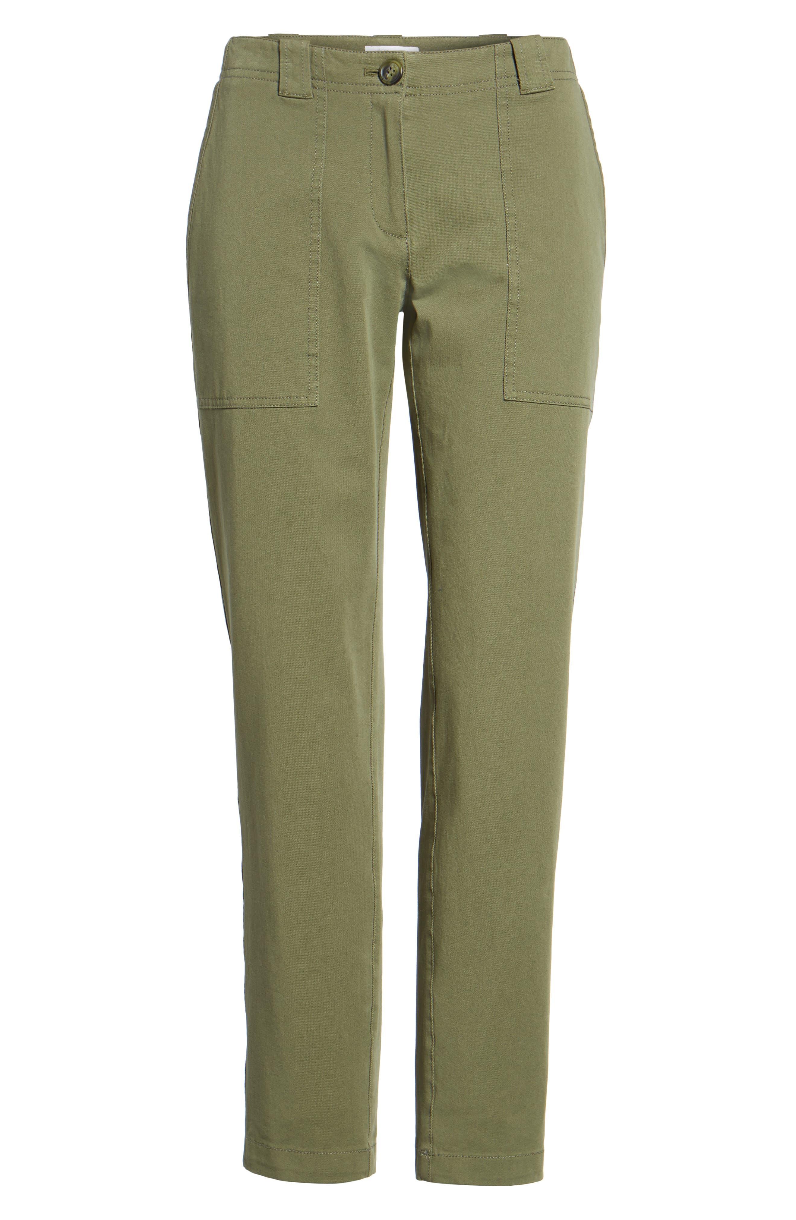 Alternate Image 6  - Nordstrom Signature Patch Pocket Ankle Pants