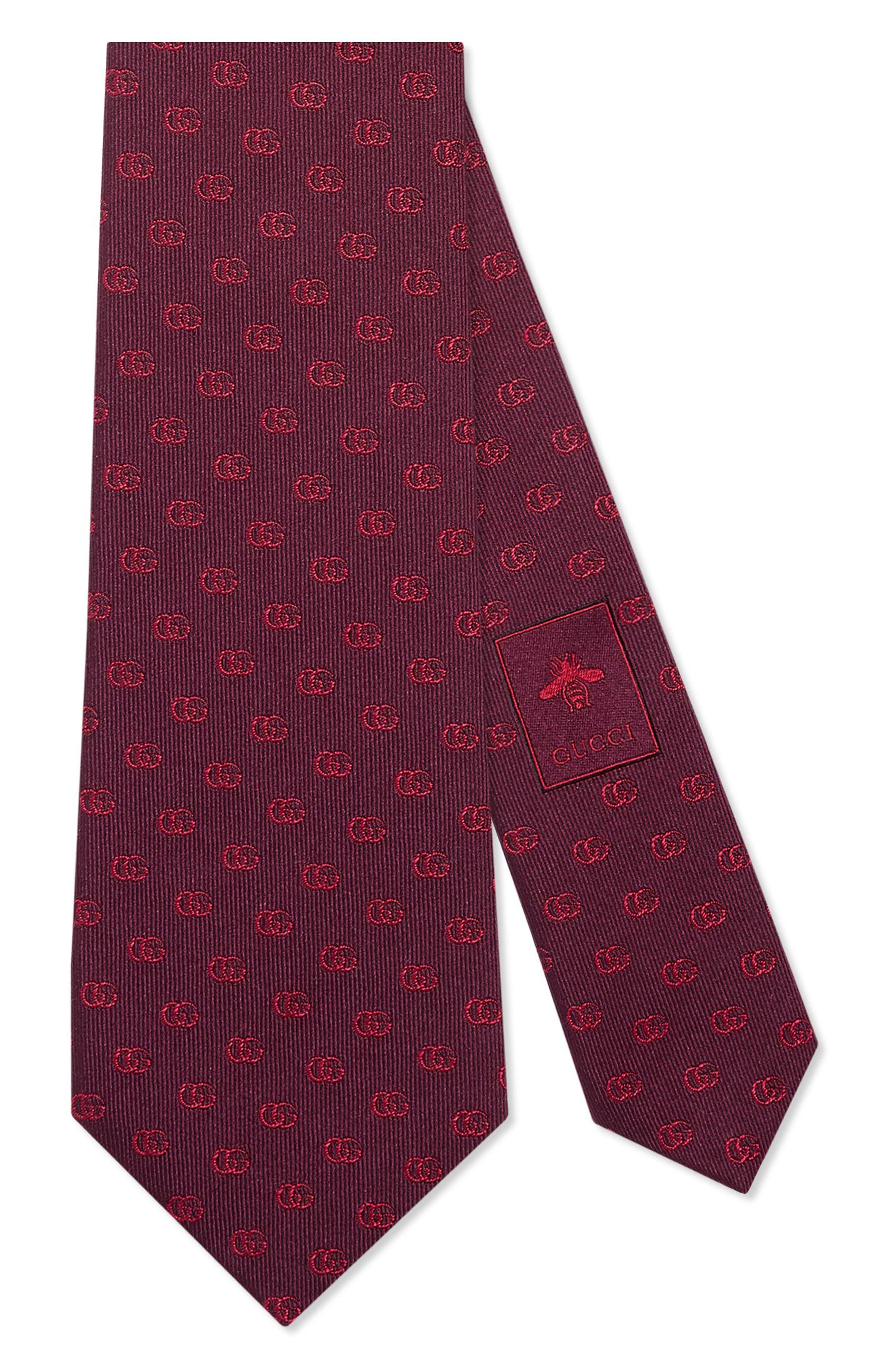Alternate Image 1 Selected - Gucci Running Logo Silk Jacquard Tie