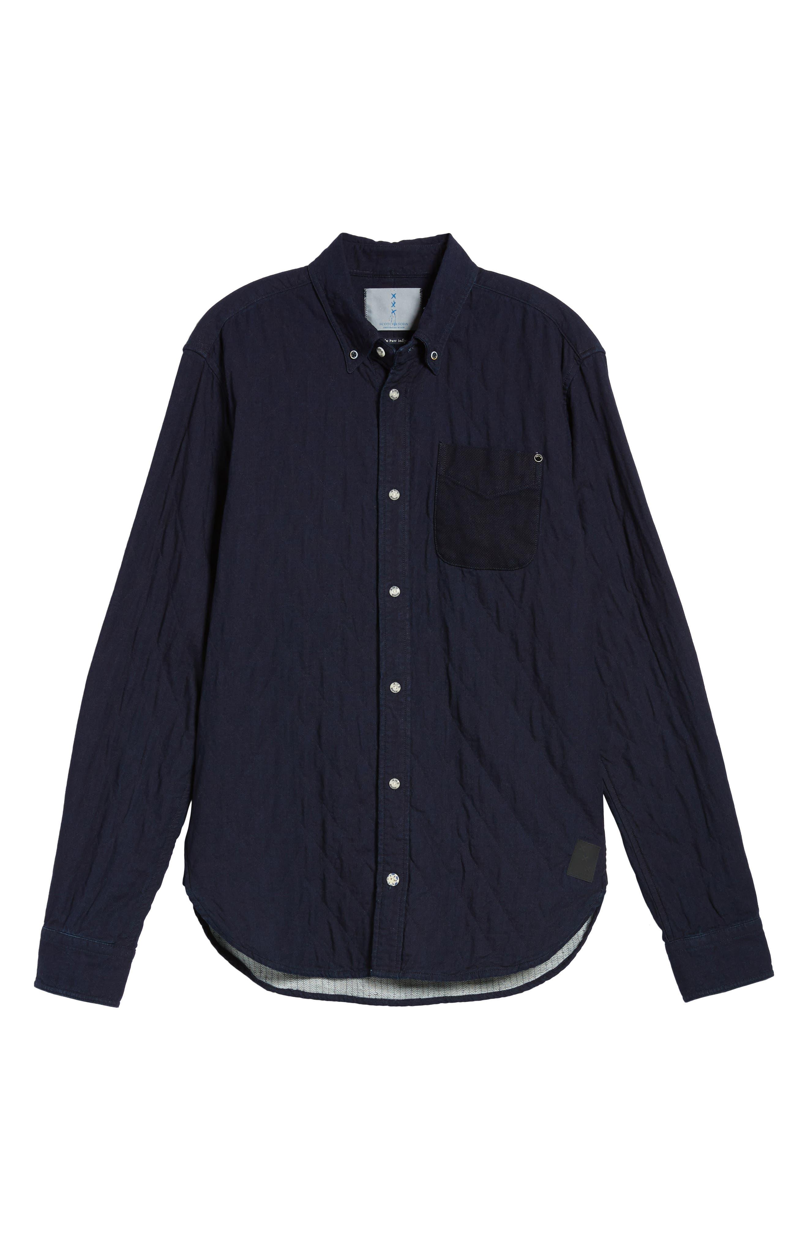 Alternate Image 6  - Scotch & Soda Double Weave Overshirt