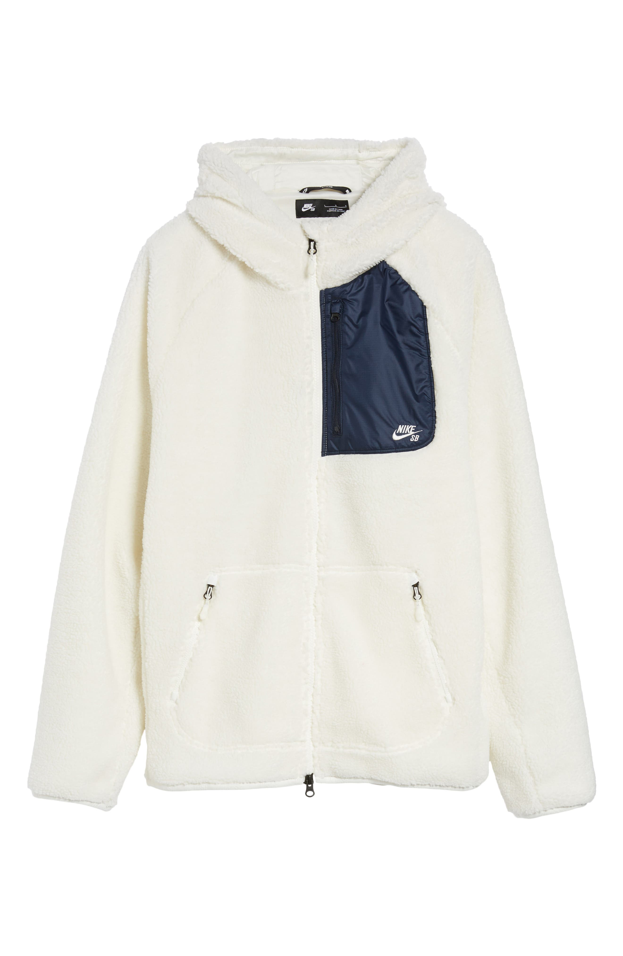 Everett Hoodie,                             Alternate thumbnail 6, color,                             Sail/ Obsidian/ Sail