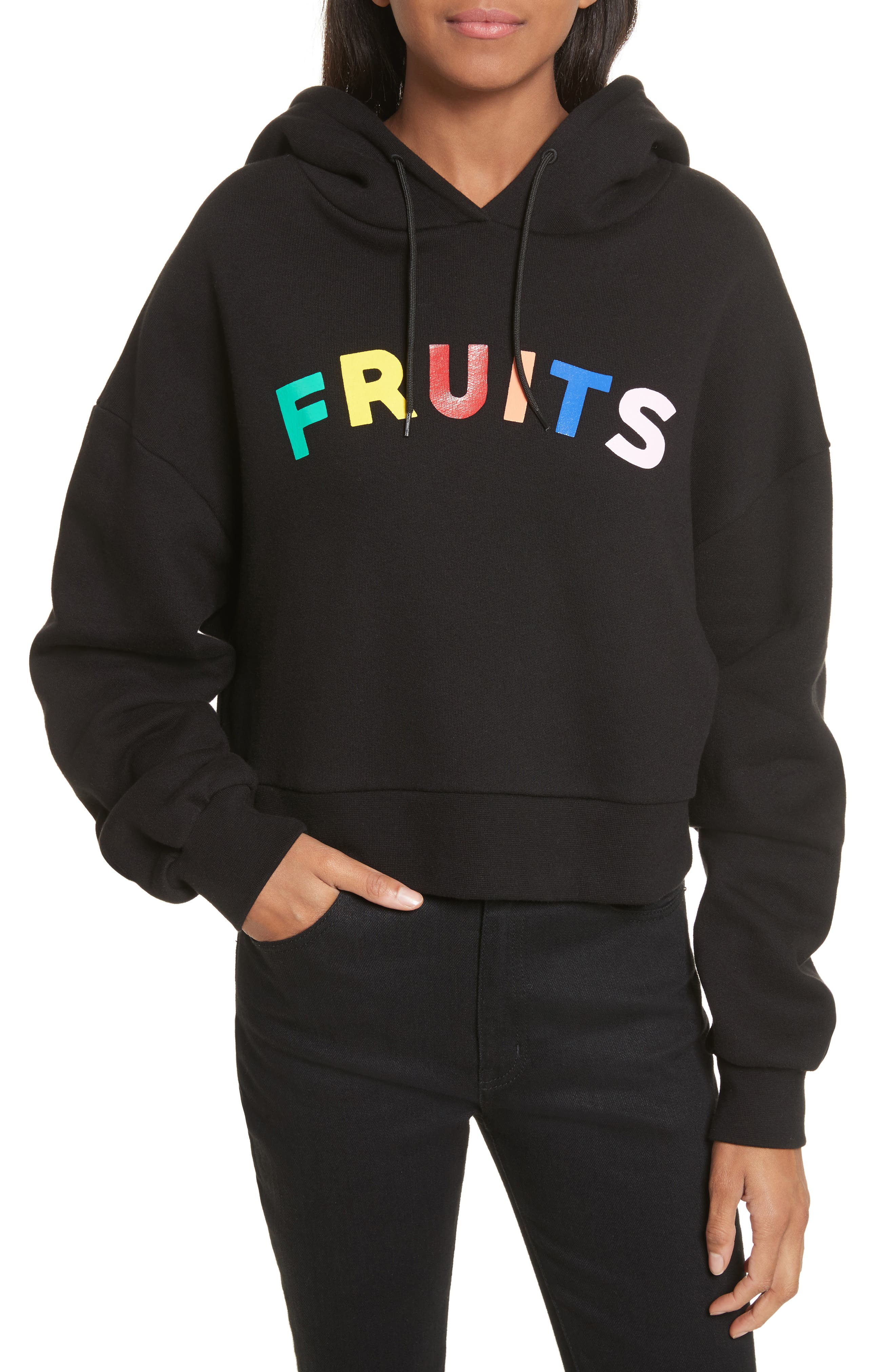 Etre Cecile FRUITS CROP OVERSIZE HOODIE