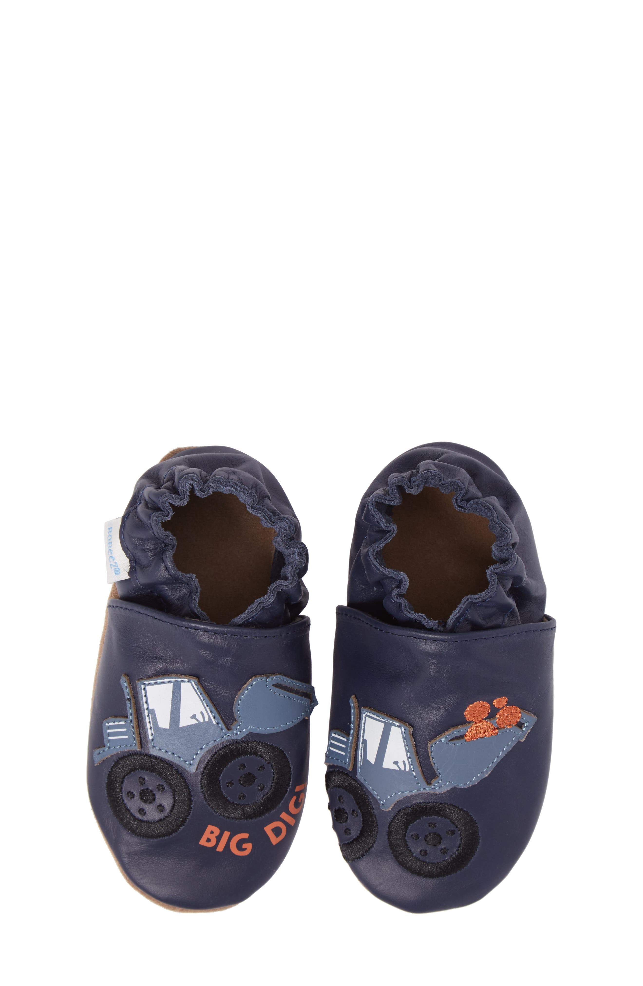 Alternate Image 1 Selected - Robeez® Big Dig Crib Shoe (Baby & Walker)