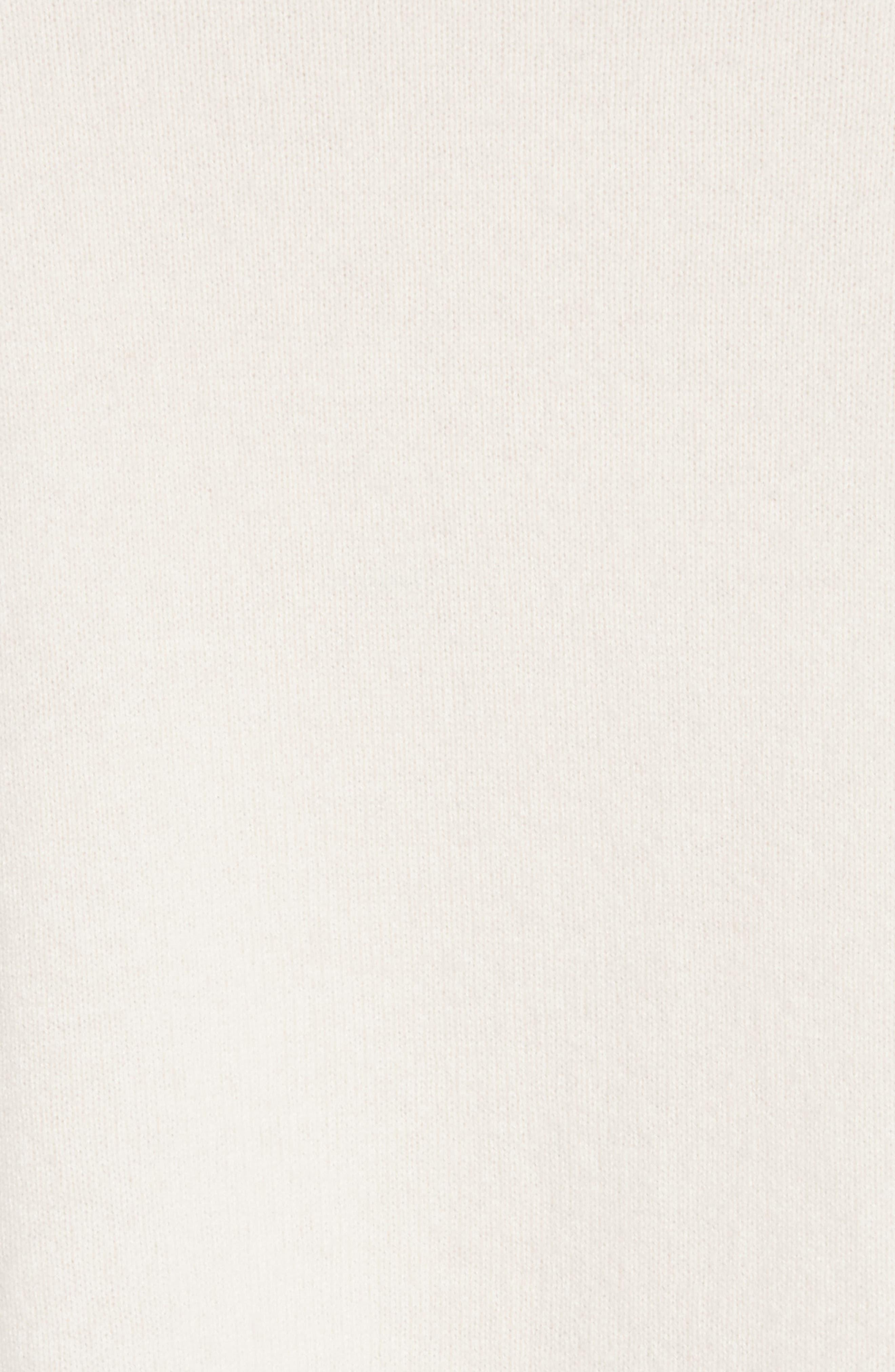 Preston Cashmere Crewneck Sweater,                             Alternate thumbnail 5, color,                             Ivory