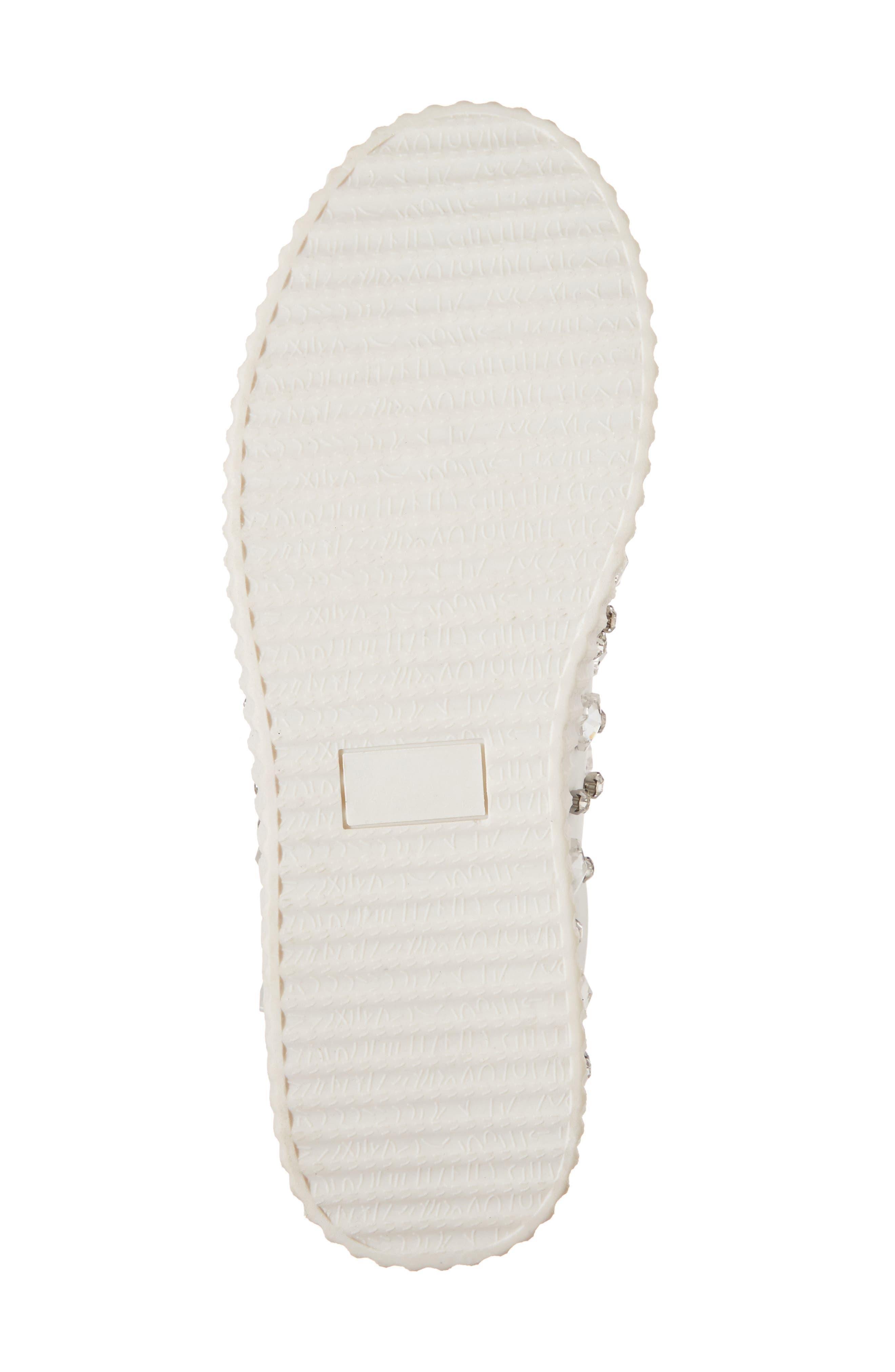 Pam Embellished Platform Sneaker,                             Alternate thumbnail 6, color,                             White