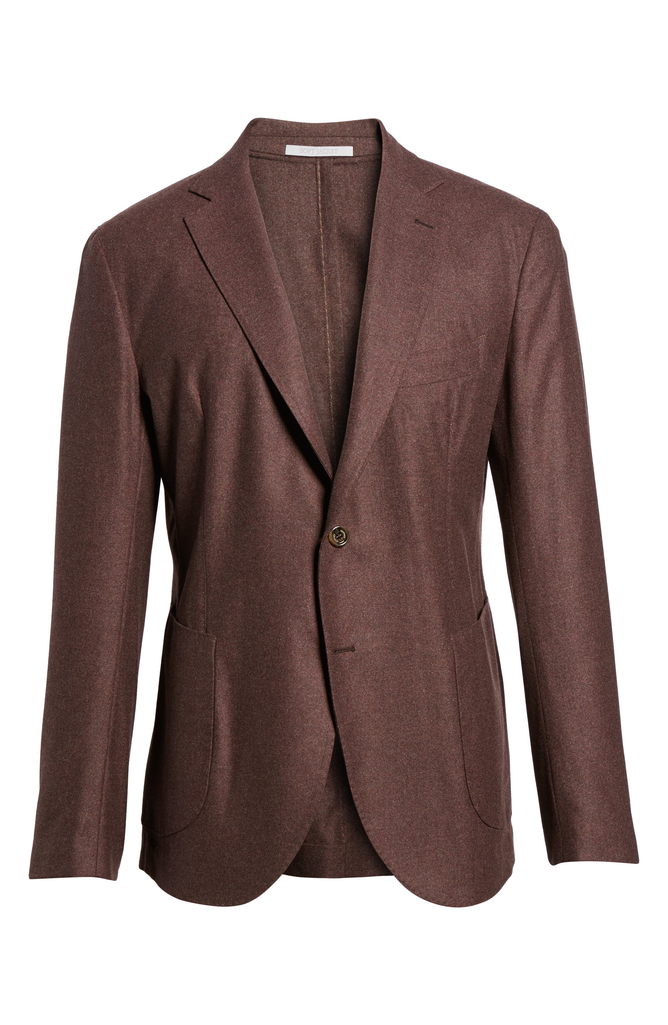 Alternate Image 6  - Eleventy Trim Fit Wool Blend Blazer