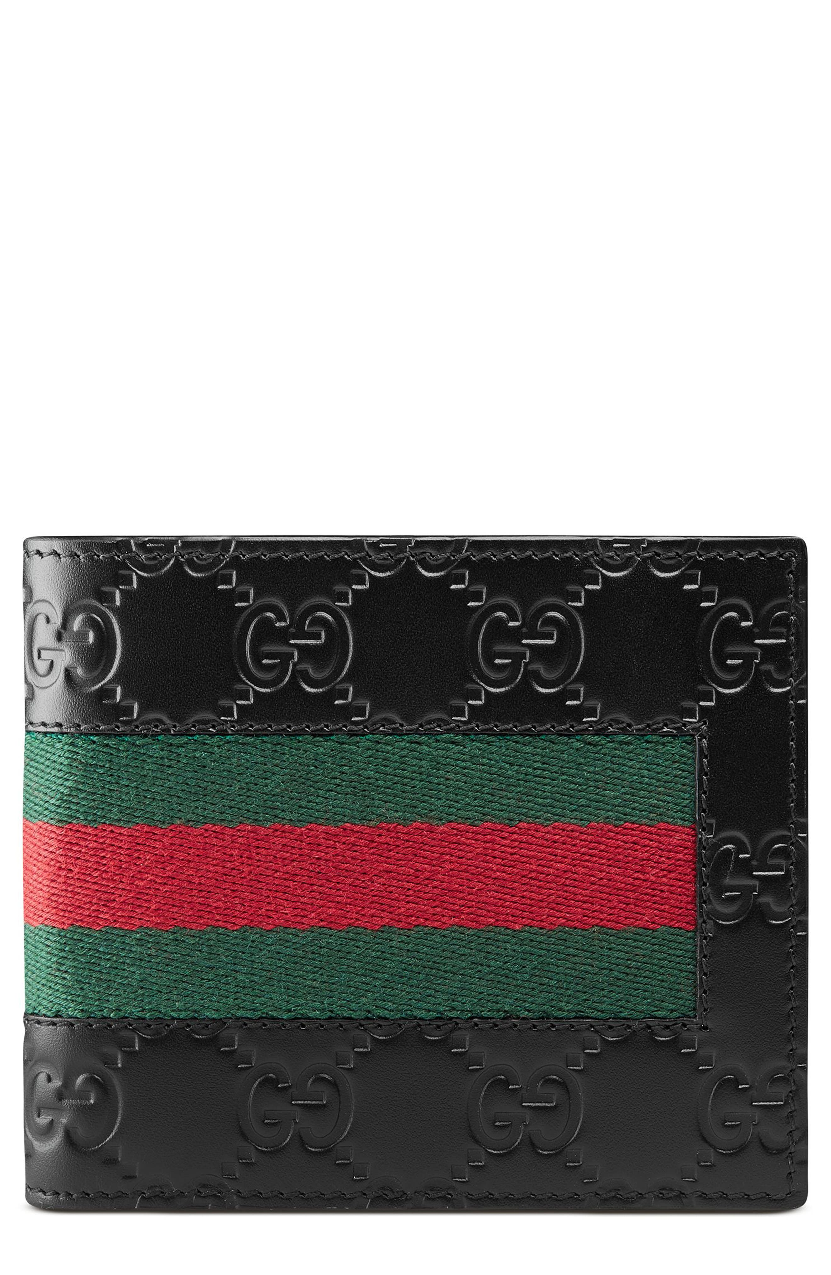 Alternate Image 1 Selected - Gucci New Web Wallet