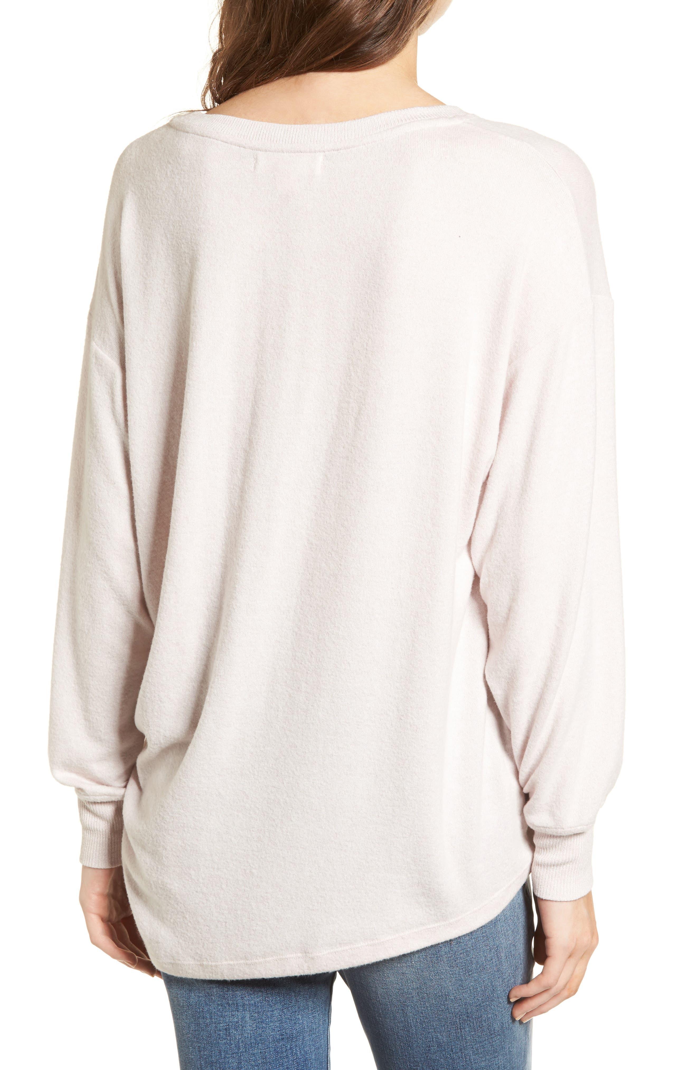 Side Cinch Sweatshirt,                             Alternate thumbnail 2, color,                             Pink Hush