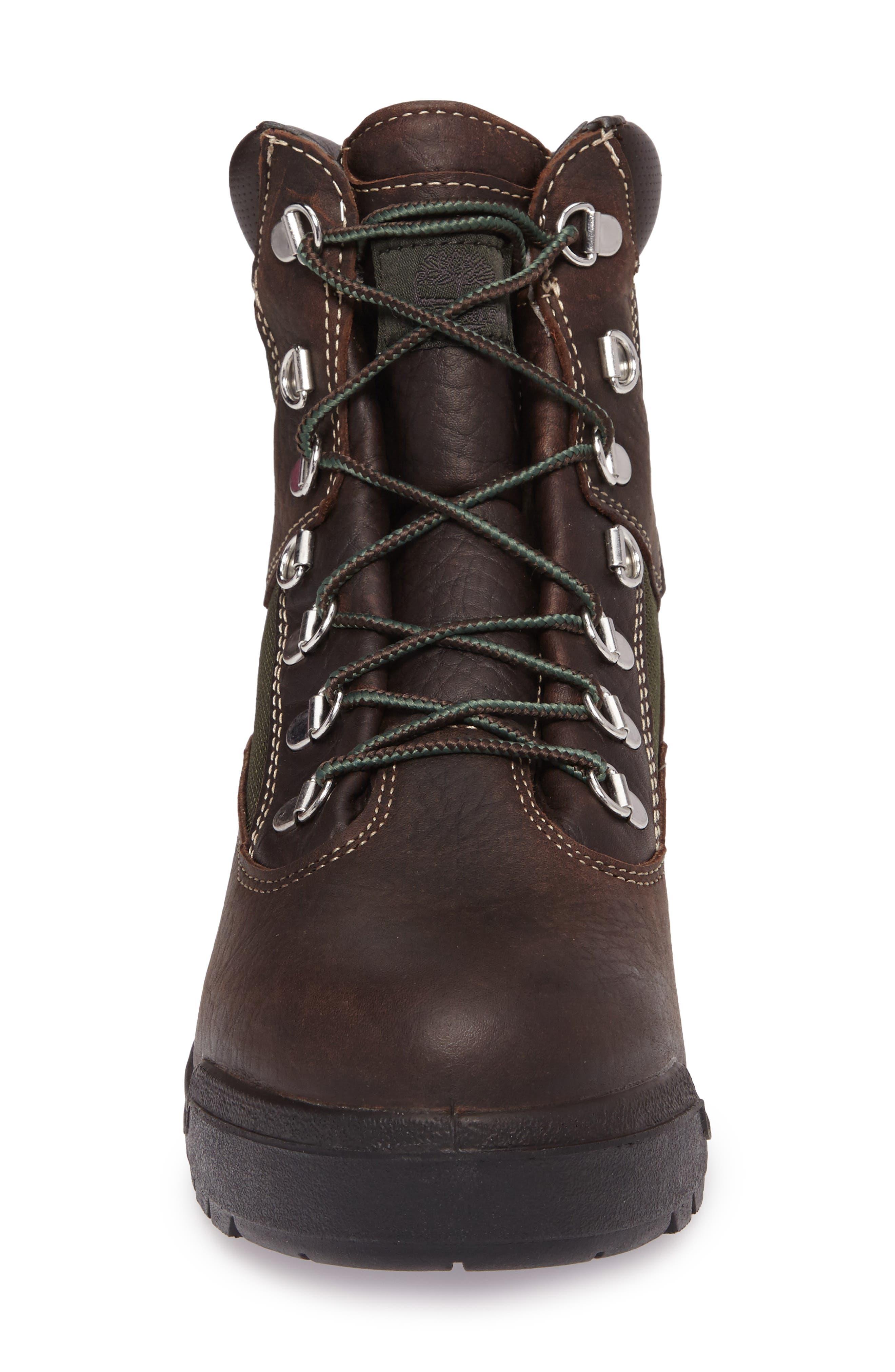 Field Waterproof Winter Boot,                             Alternate thumbnail 4, color,                             Hazel Highway Leather