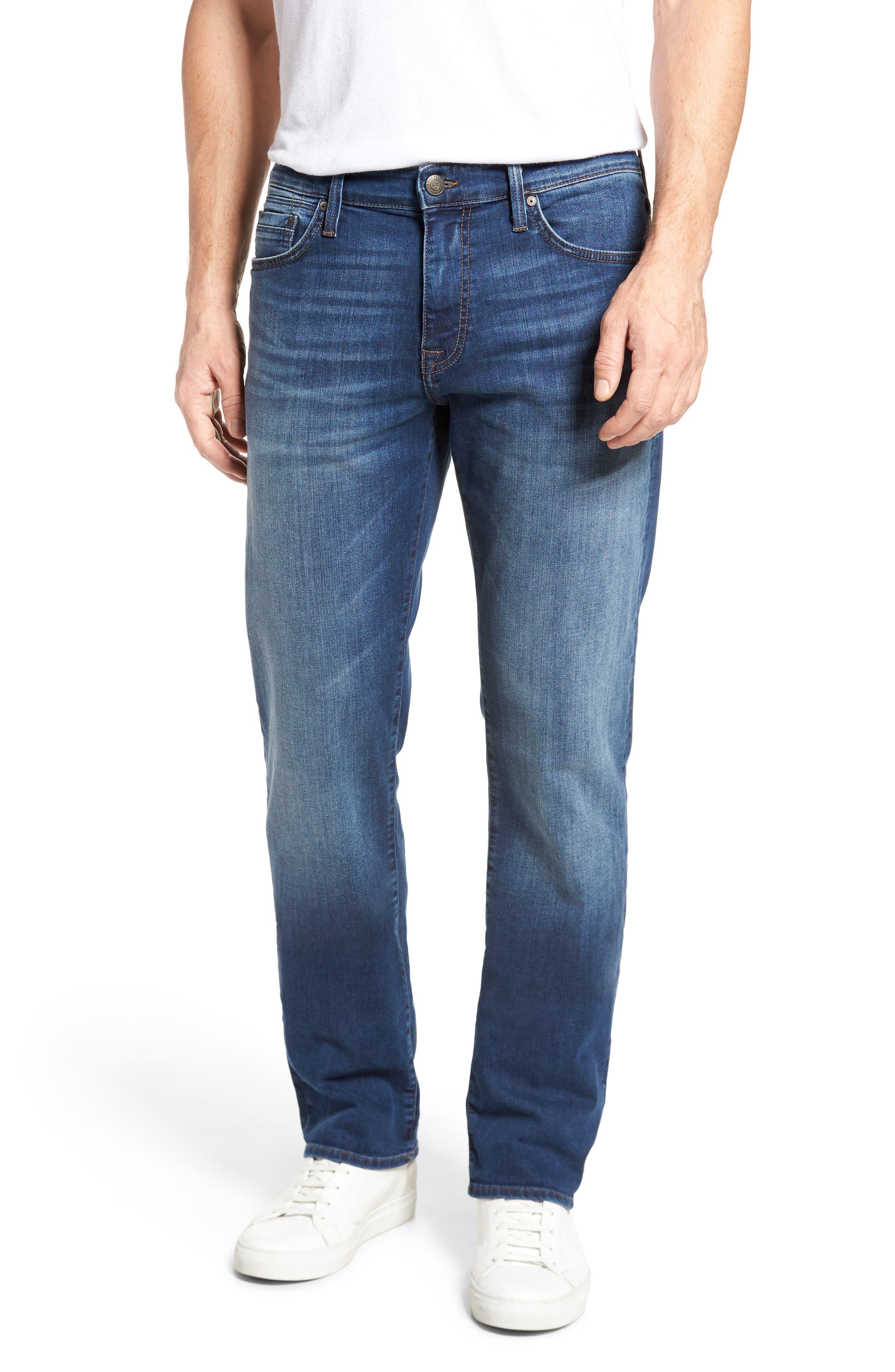 Alternate Image 1 Selected - Mavi Jeans Myles Straight Fit Jeans (Dark Used Williamsburg)