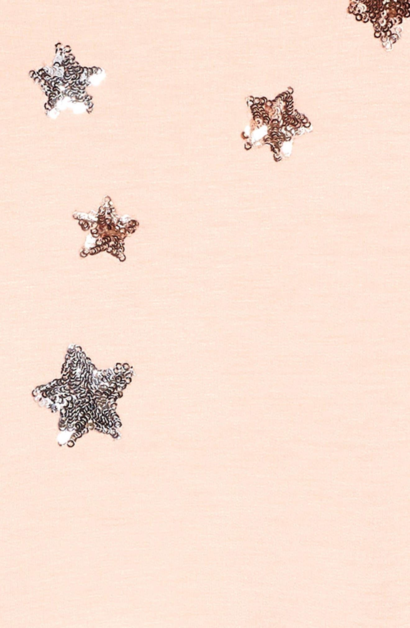 Celestial Knit Dress,                             Alternate thumbnail 3, color,                             Light Pink
