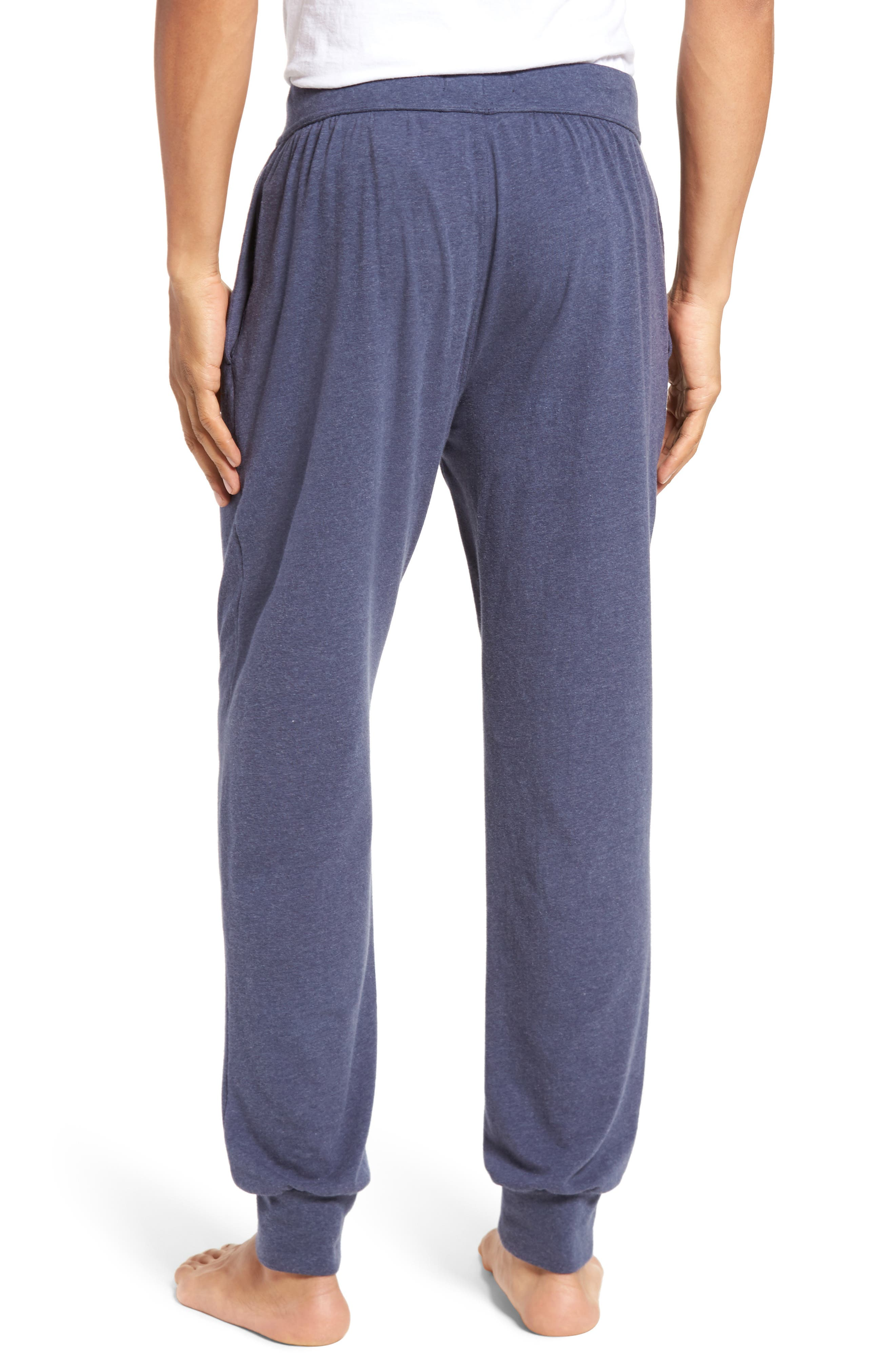Stretch Cotton Lounge Pants,                             Alternate thumbnail 2, color,                             Blue Denim