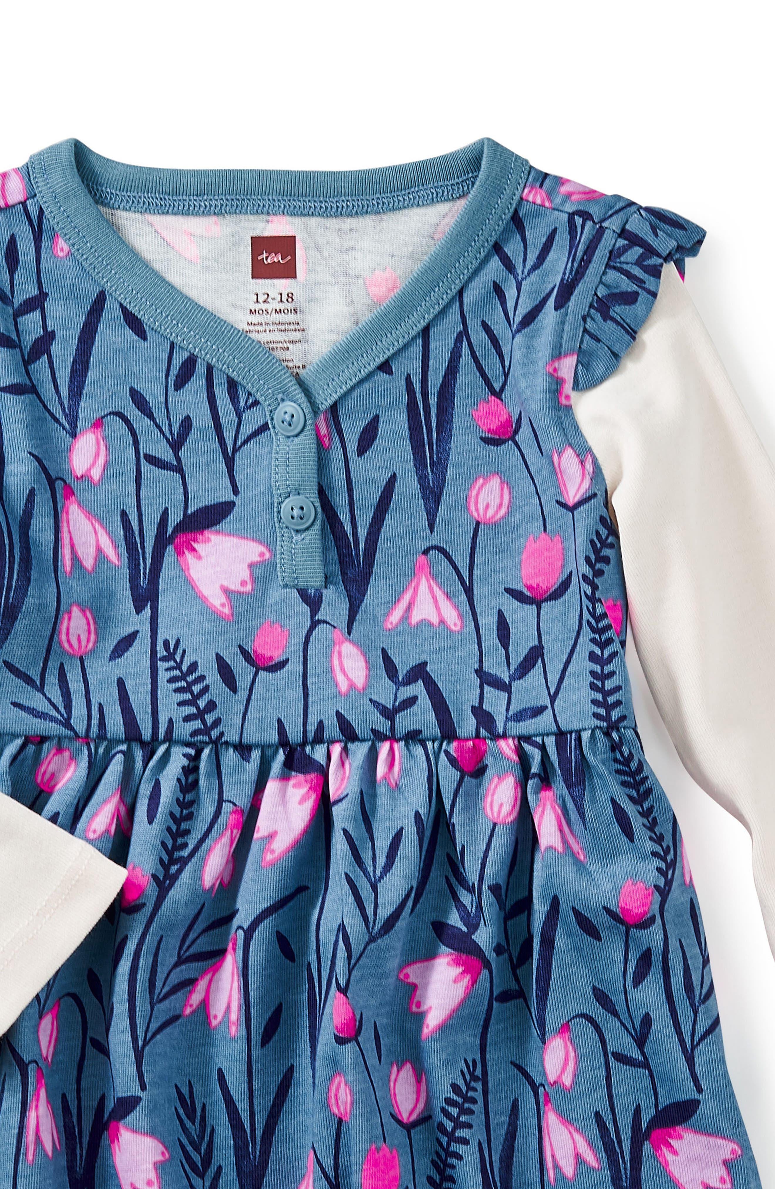 Alternate Image 2  - Tea Collection Snowdrop Layered Dress (Baby Girls)