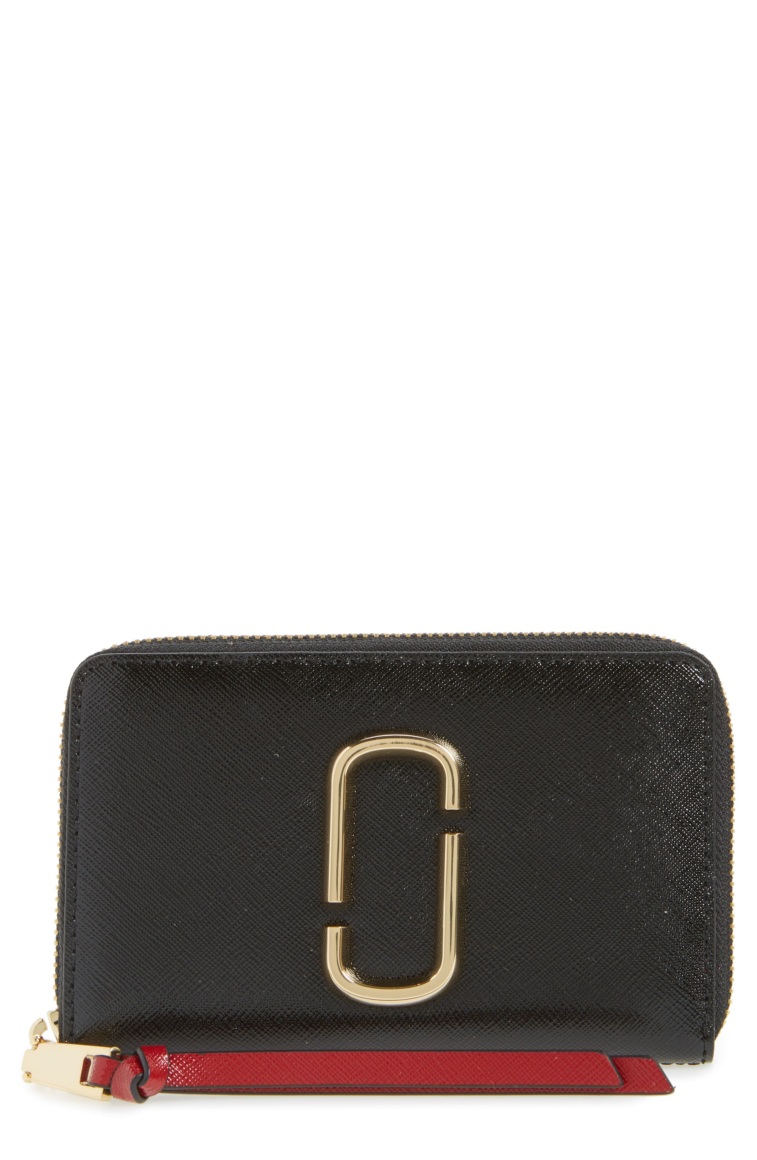 Main Image - MARC JACOBS Small Snapshot Leather Zip-Around Wallet