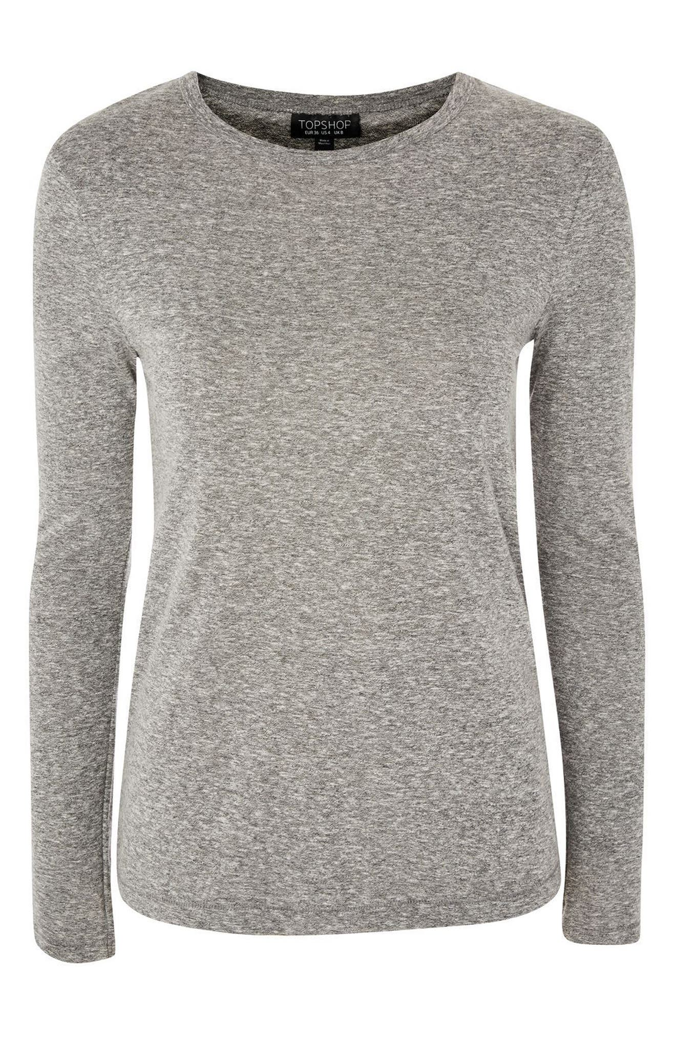 Marl Tee,                             Alternate thumbnail 3, color,                             Grey Marl