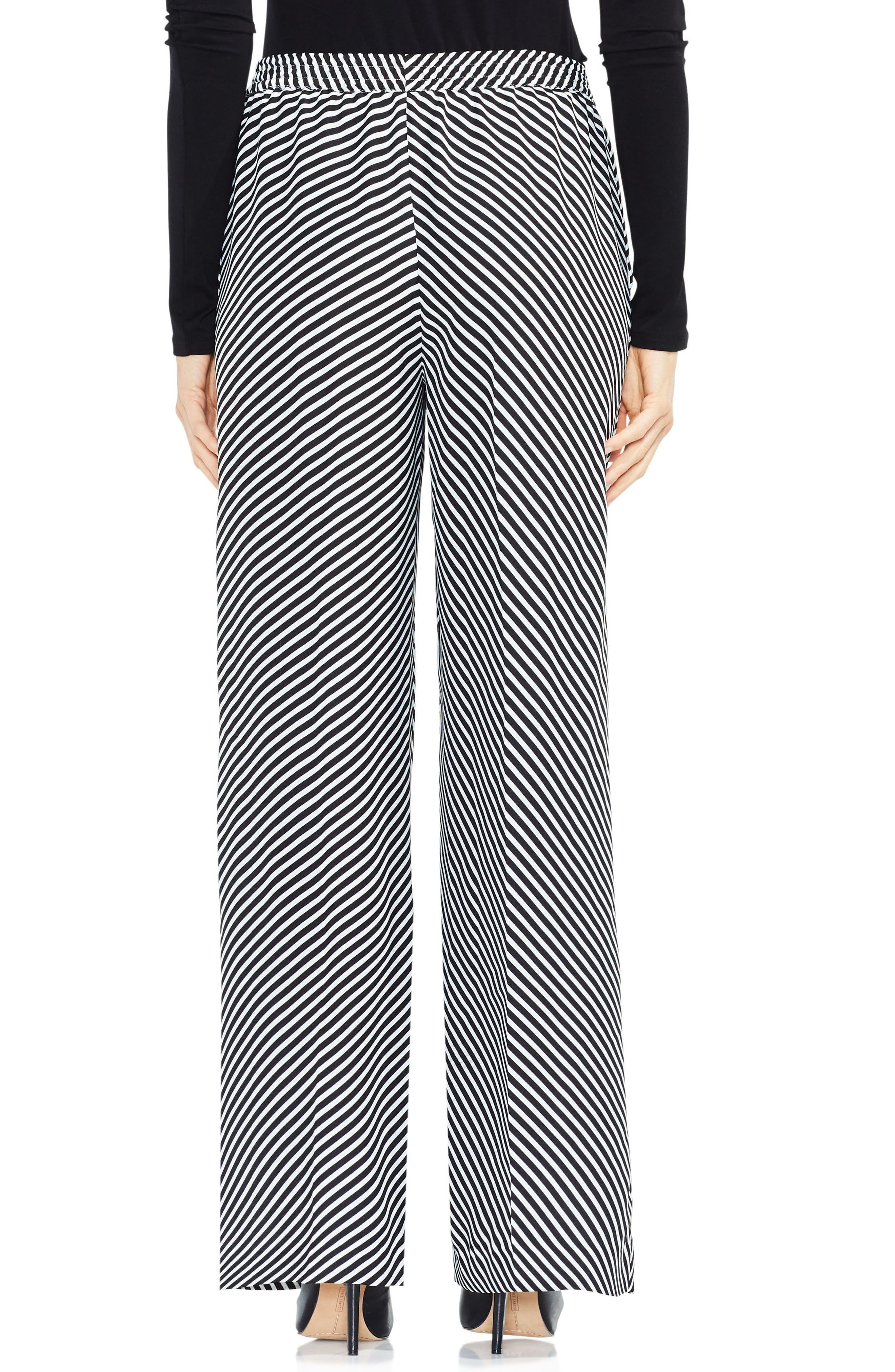 Alternate Image 2  - Vince Camuto Diagonal Stripe Wide Leg Pants