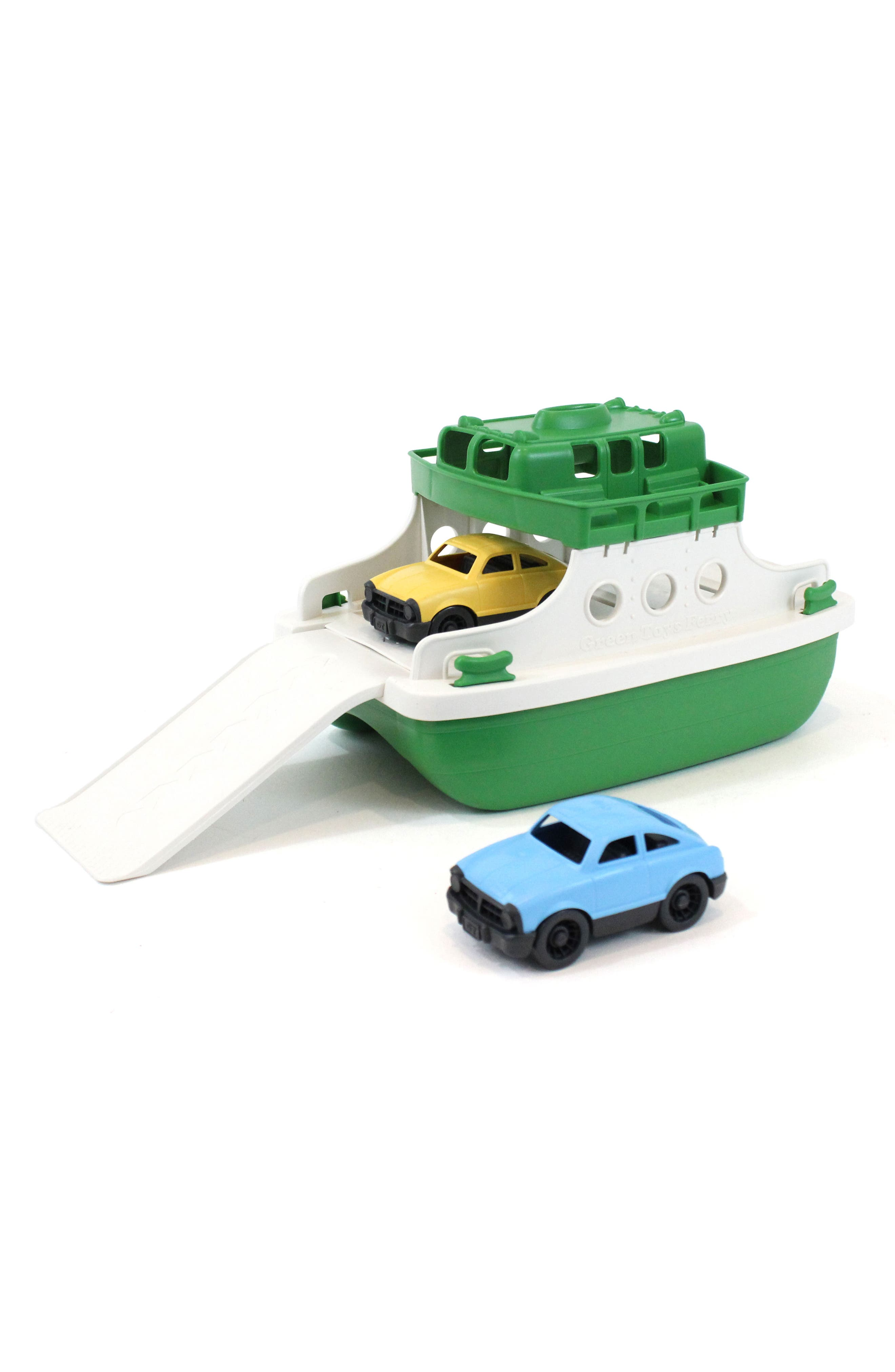 Three-Piece Ferry Boat Toy,                             Alternate thumbnail 3, color,                             Green