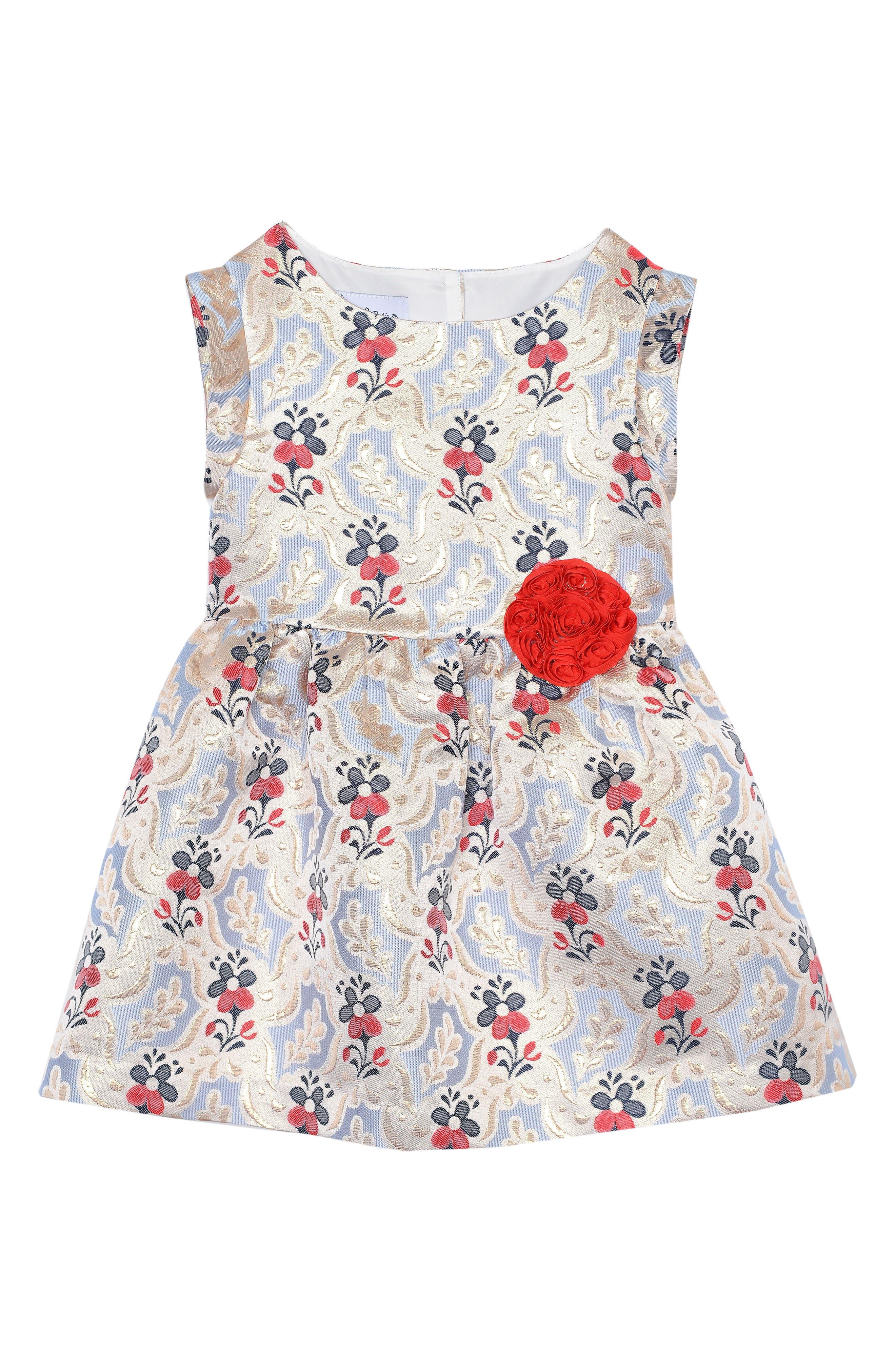 Pippa & Julie Sleeveless Jacquard Dress (Baby Girls)