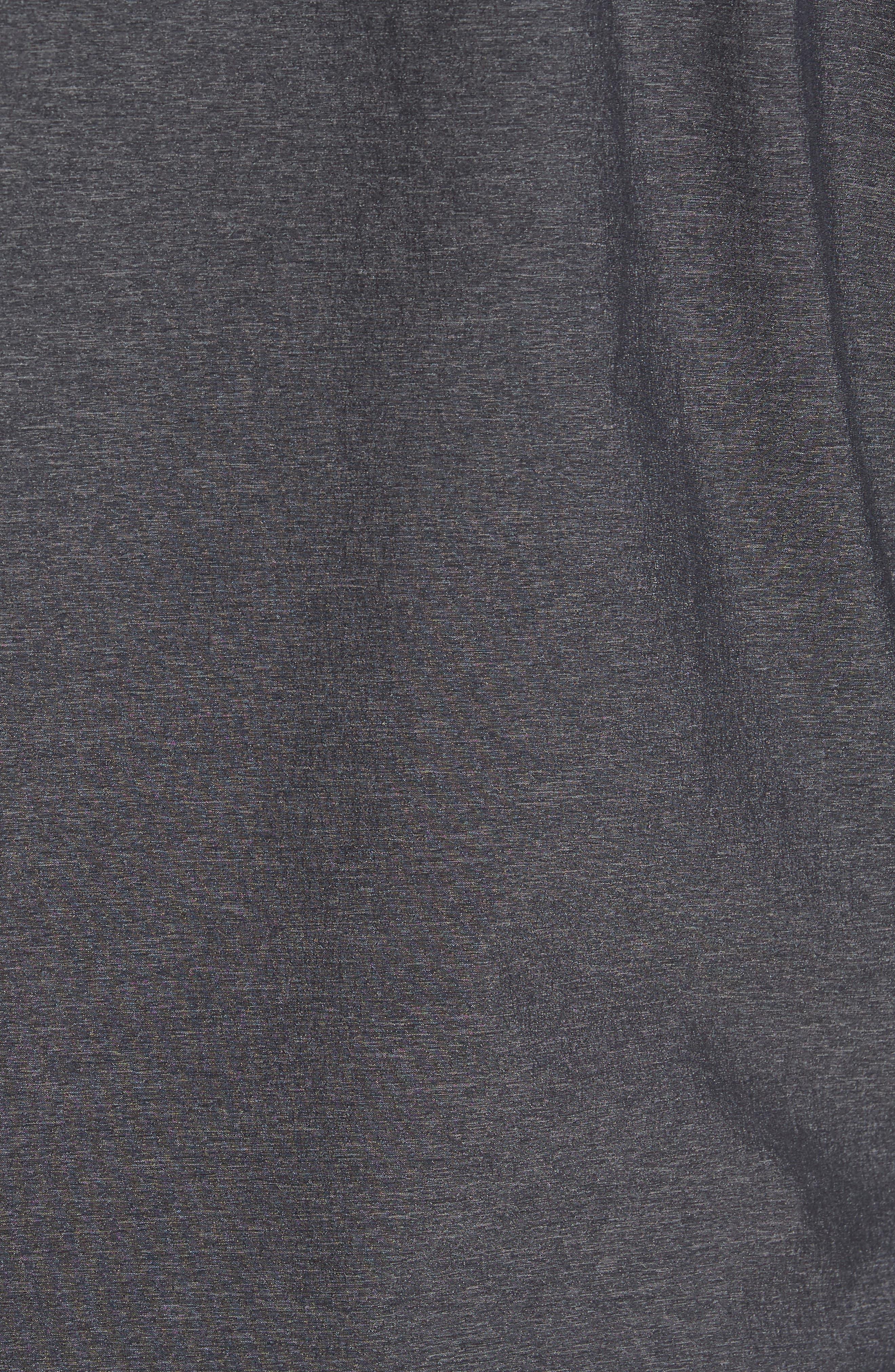 Knit & Woven Hoodie,                             Alternate thumbnail 5, color,                             Grey Ebony - Black