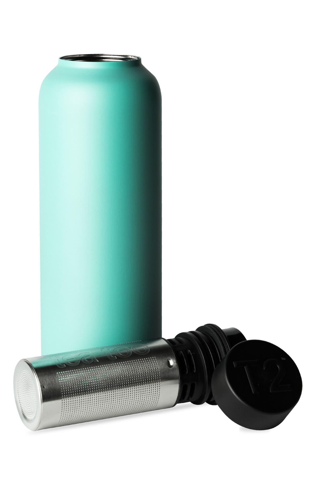 Stainless Steel Tea Flask,                             Alternate thumbnail 2, color,                             Aqua