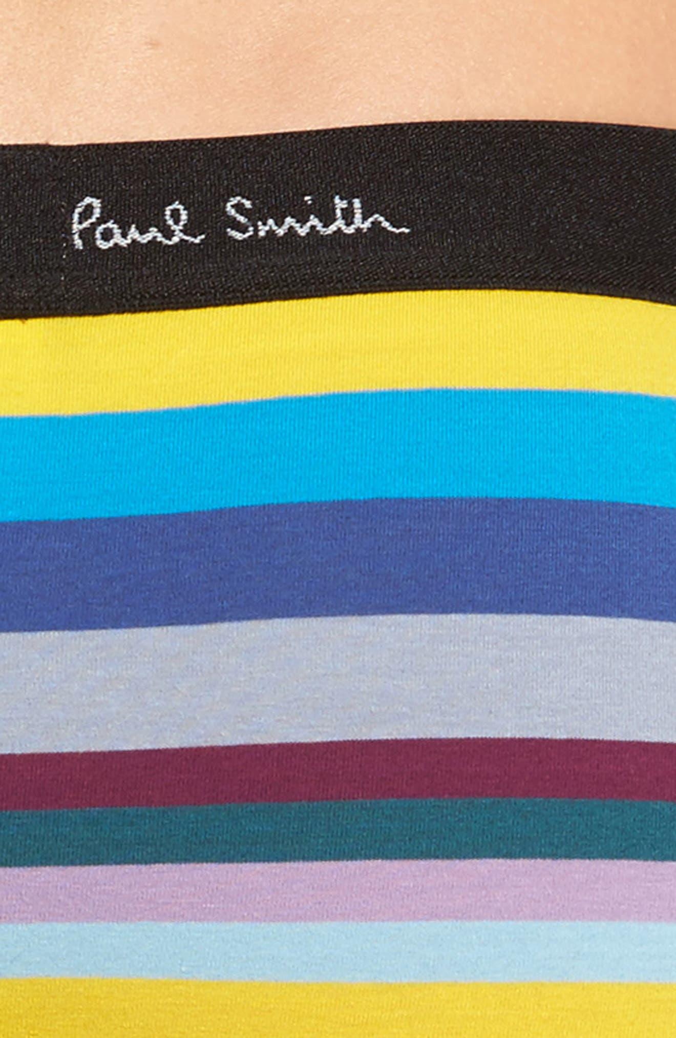 Artist Stripe Stretch Cotton Trunks,                             Alternate thumbnail 4, color,                             Blue