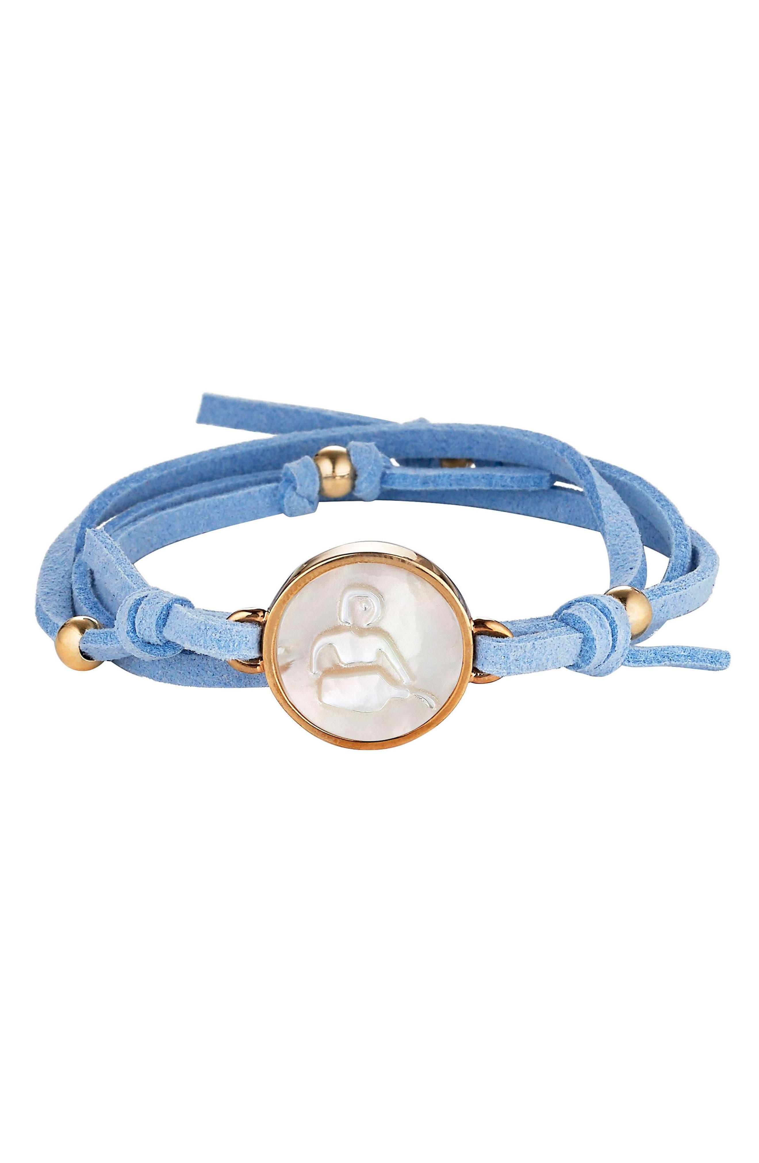 ASHA Zodiac Suede Wrap Bracelet
