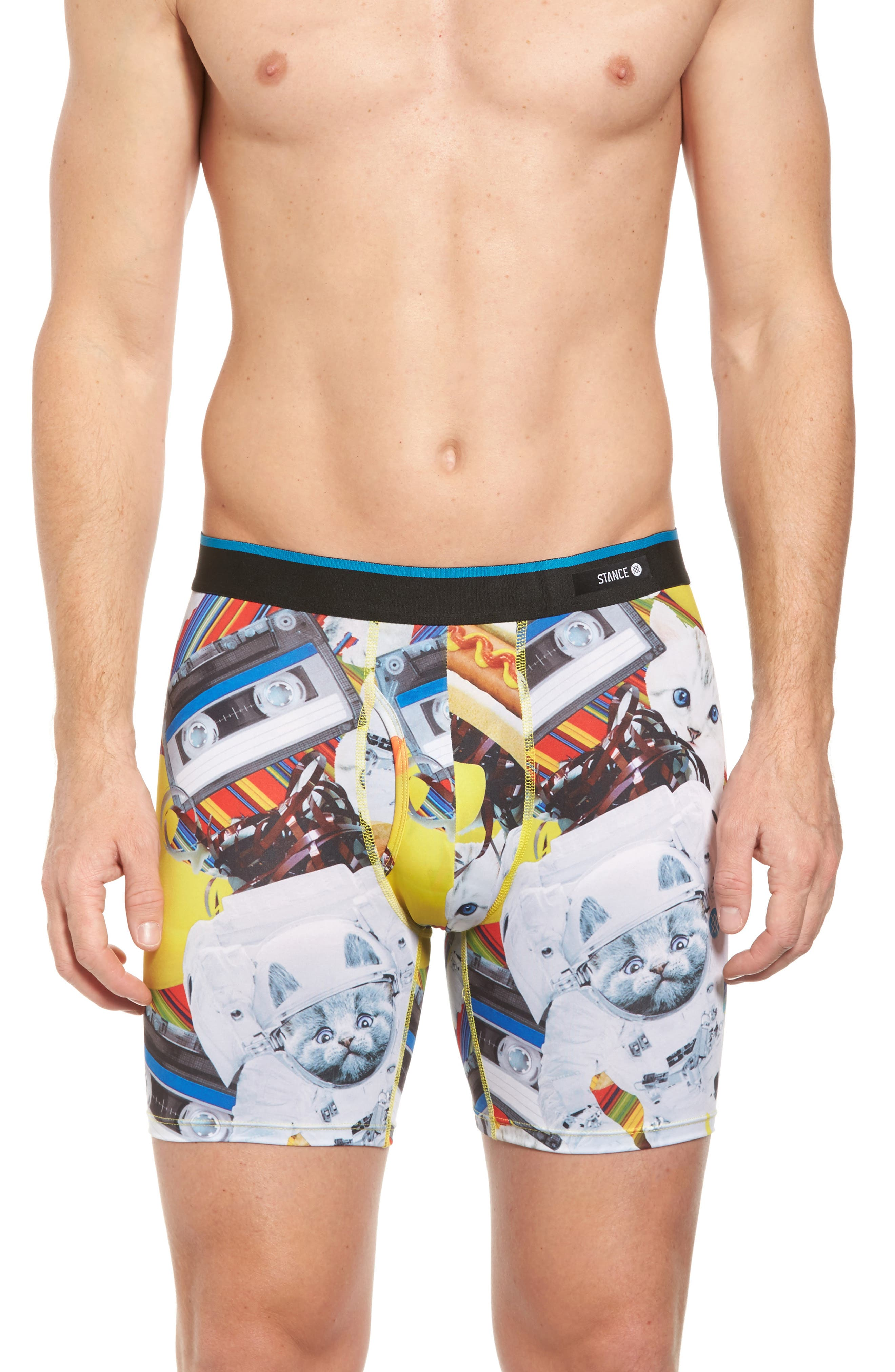 Castronaut Boxer Briefs,                             Main thumbnail 1, color,                             Yellow Multi