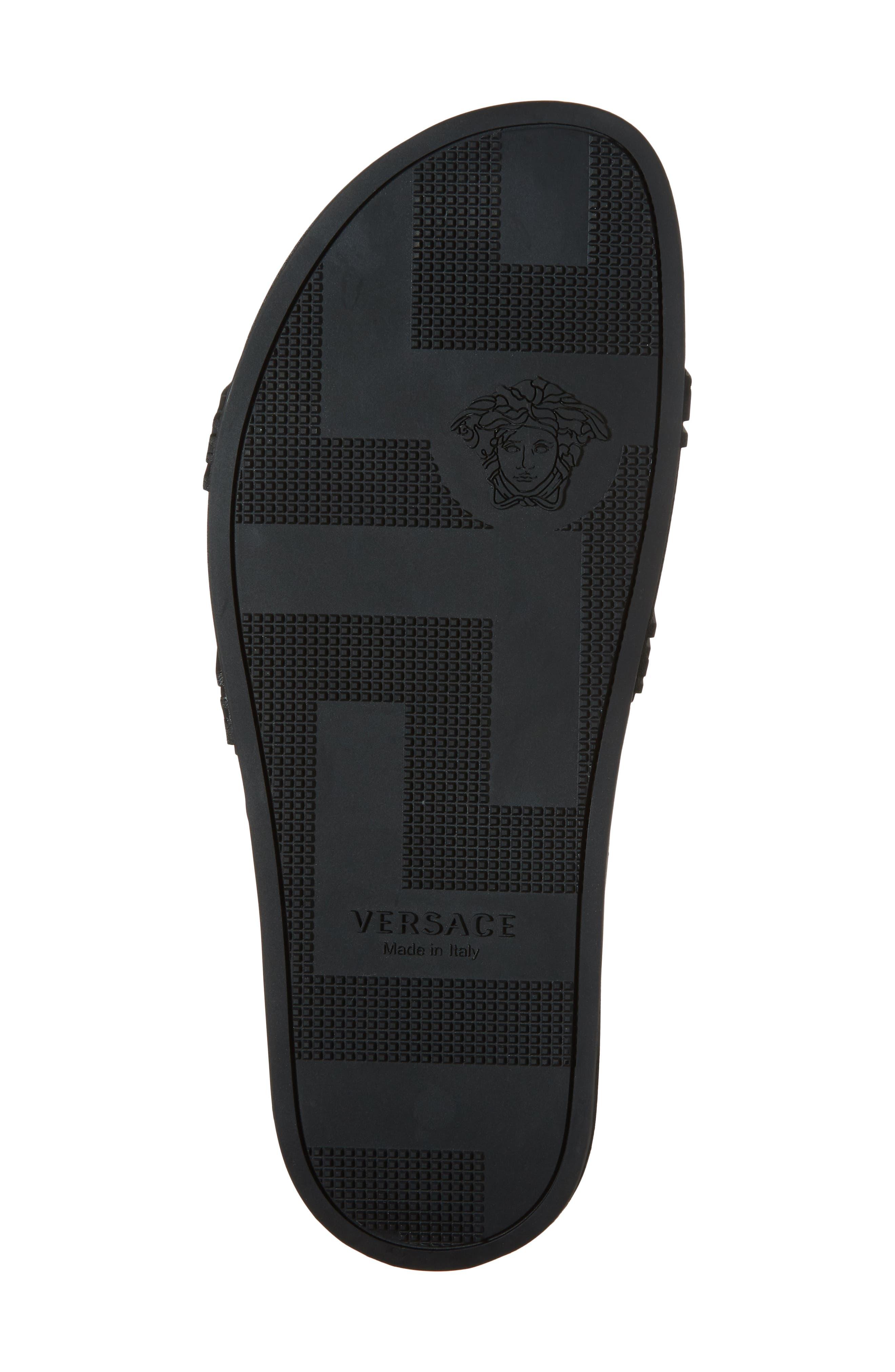 Palazzo Medusa Slide Sandal,                             Alternate thumbnail 6, color,                             Black