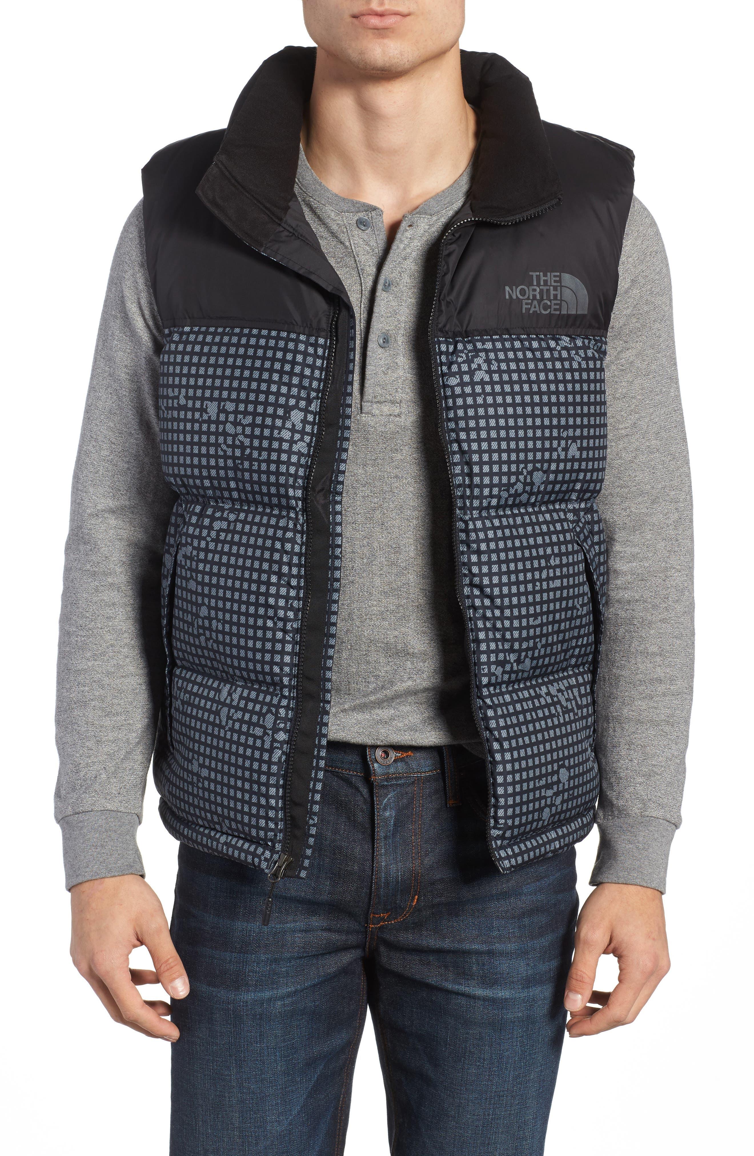 'Nuptse' Quilted Vest,                         Main,                         color, Black Nightmoves / Black
