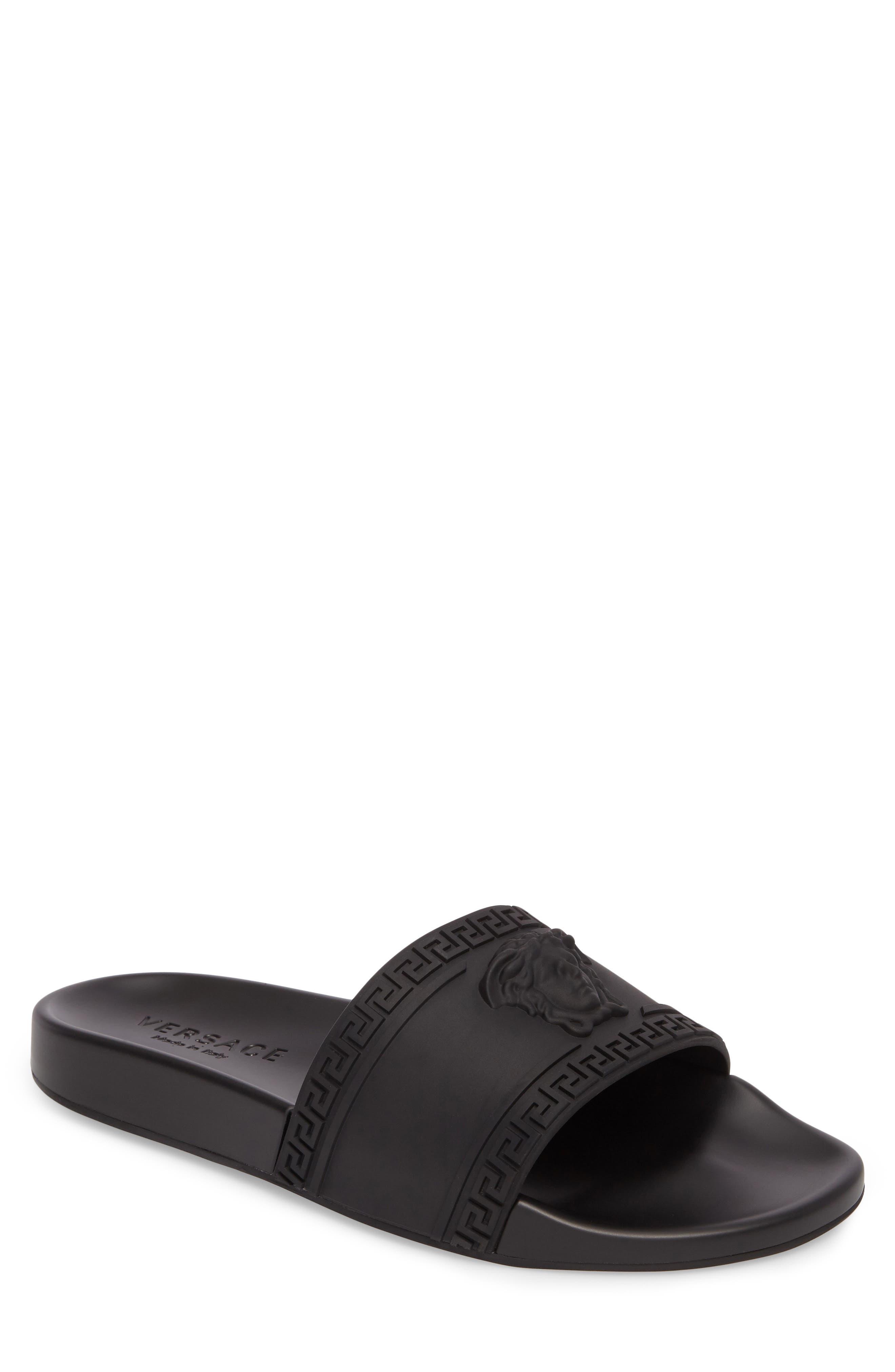 Palazzo Medusa Slide Sandal,                             Main thumbnail 1, color,                             Black