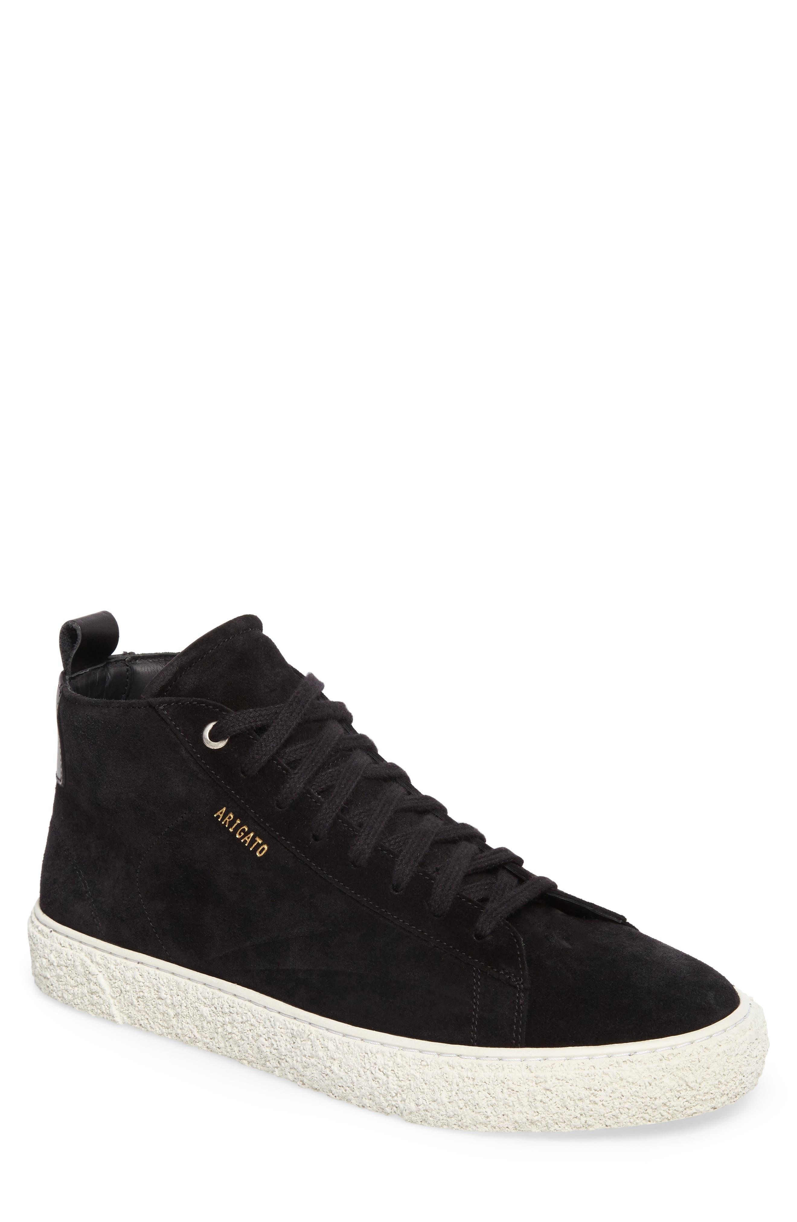 Chukka Sneaker,                             Main thumbnail 1, color,                             Black Suede