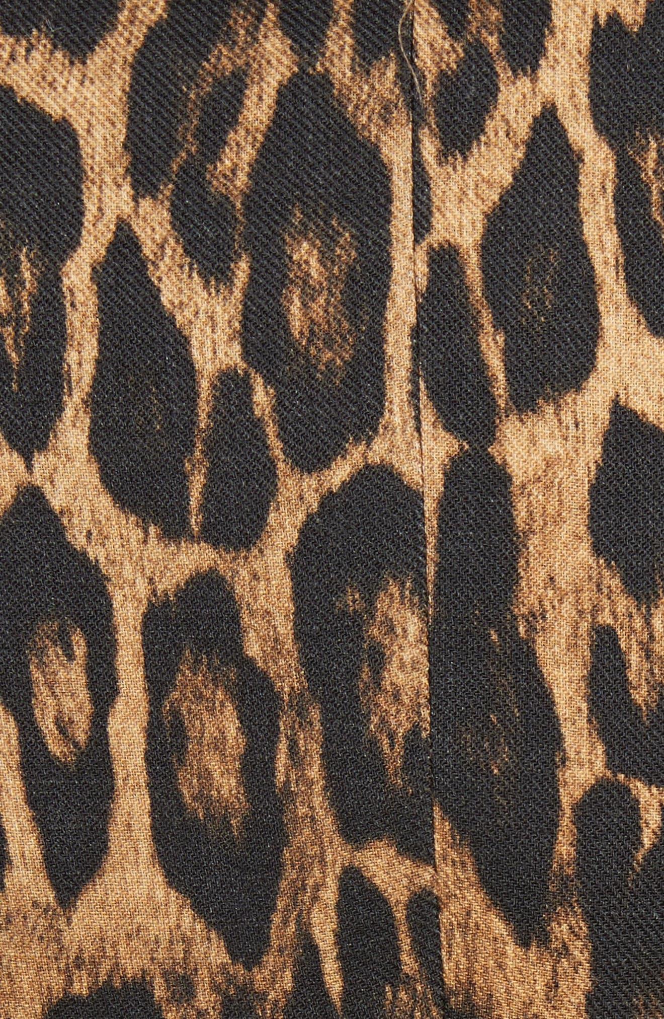 Leopard Puff Shoulder Wool Blazer,                             Alternate thumbnail 5, color,                             Leopard