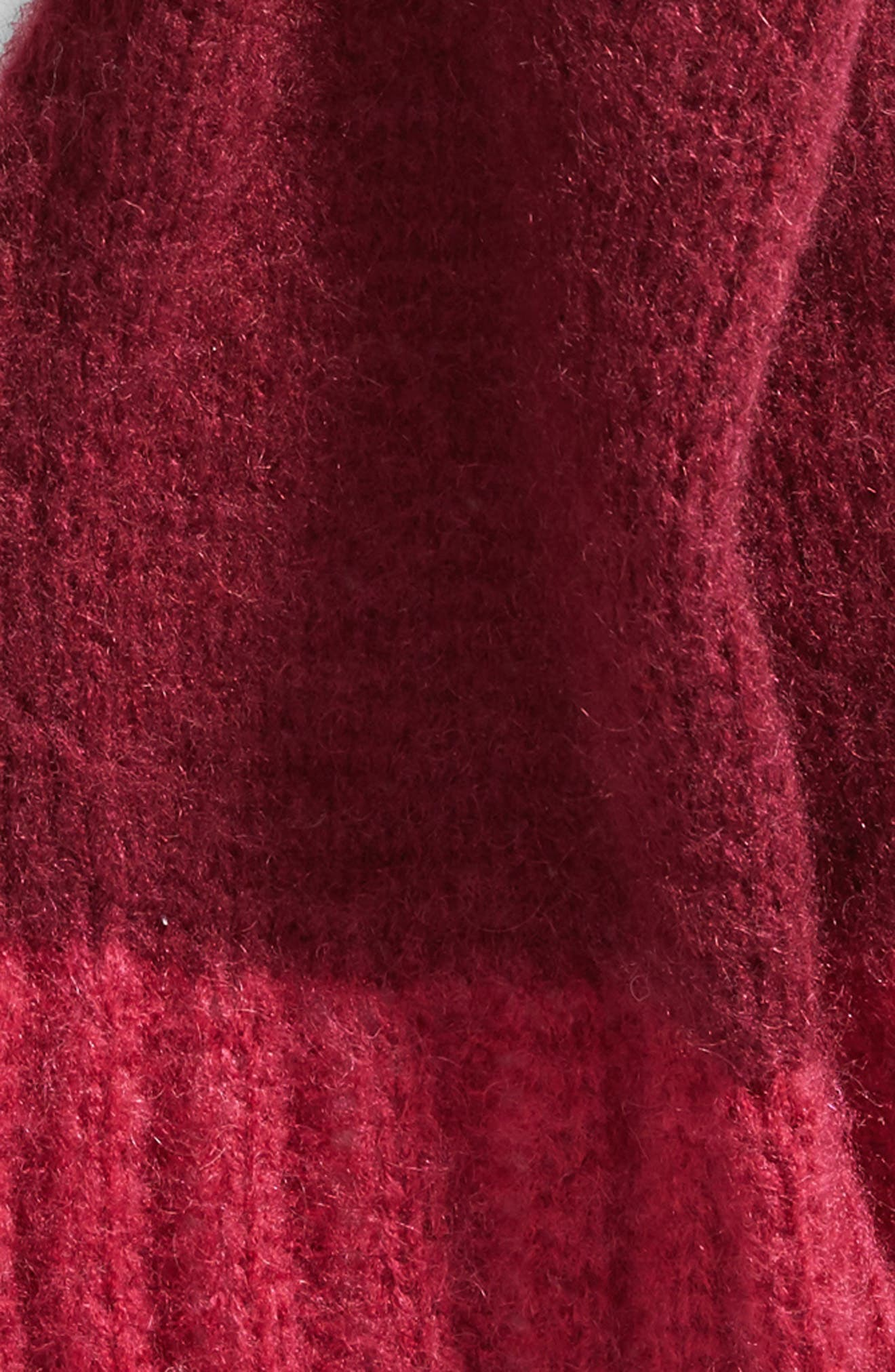 Metallic Tipped Scarf,                             Alternate thumbnail 4, color,                             Burgundy Combo