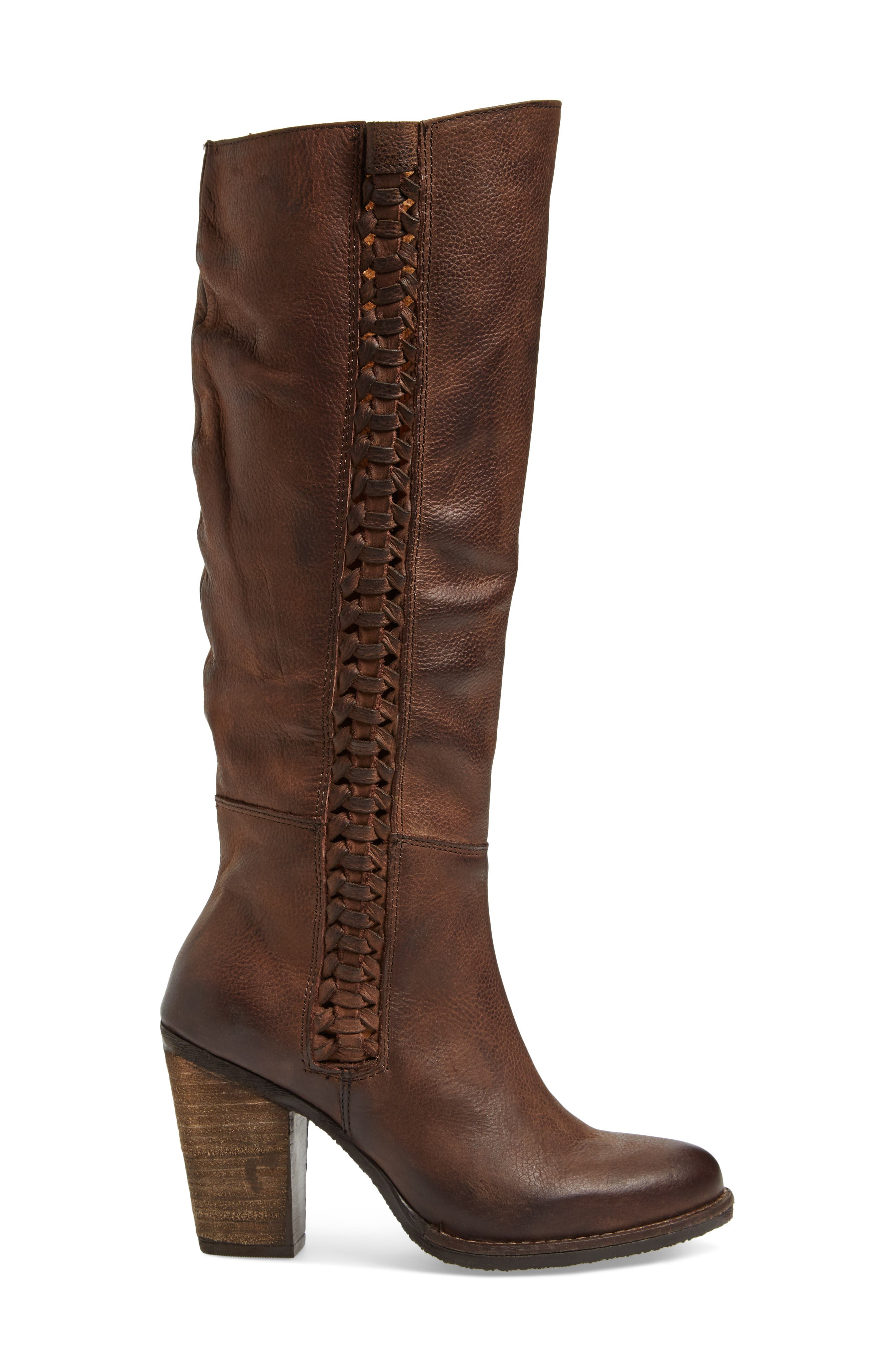 Flacon Boot,                             Alternate thumbnail 3, color,                             Brown Leather