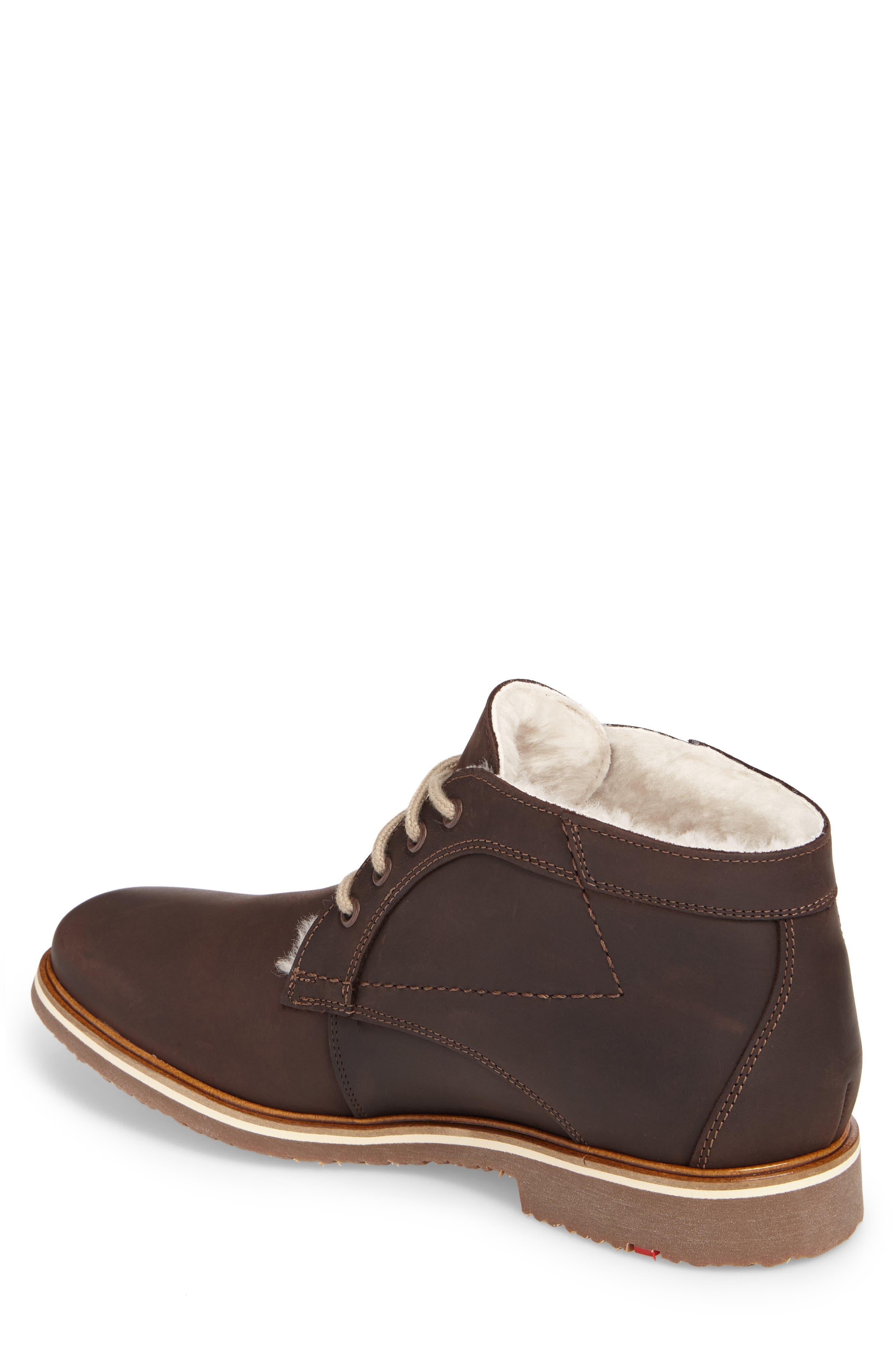 Varus Waterproof Shearlng Lined Chukka Boot,                             Alternate thumbnail 2, color,                             Ebony Leather
