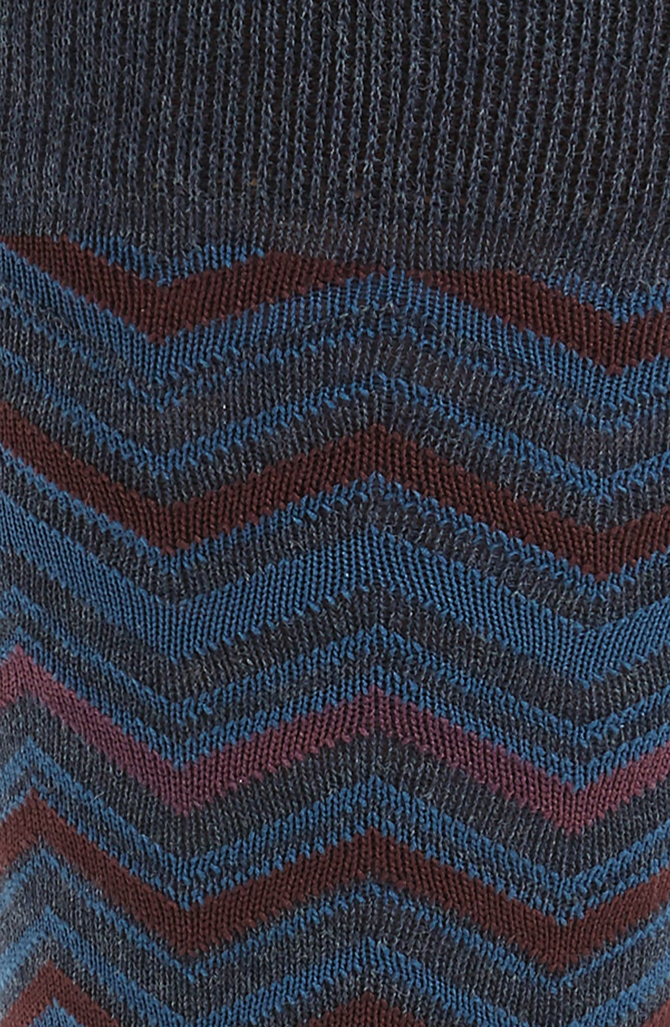 Chevron Socks,                             Alternate thumbnail 2, color,                             Navy Heather