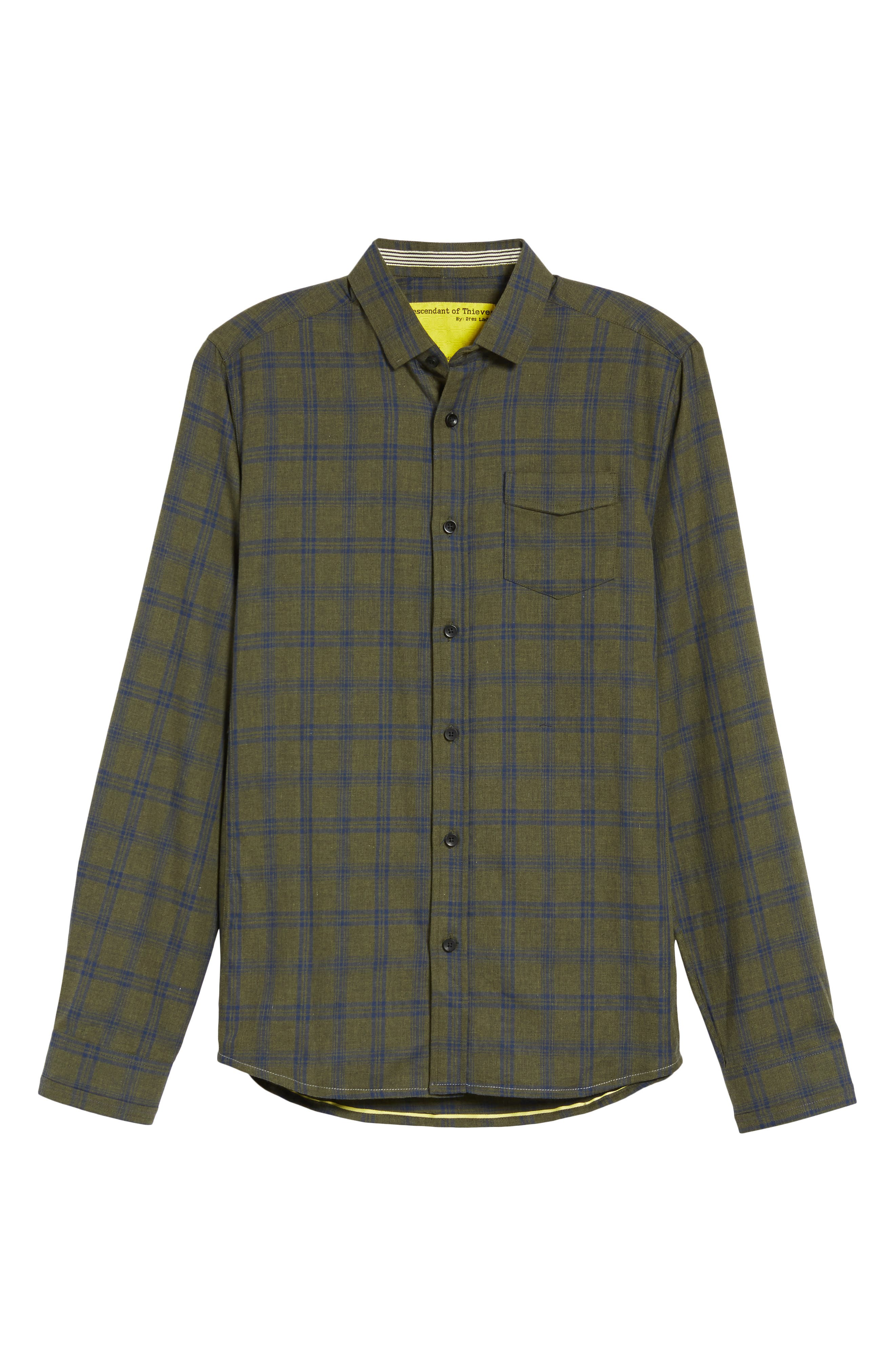 Alternate Image 6  - Descendant of Thieves Vintage Army Plaid Sport Shirt