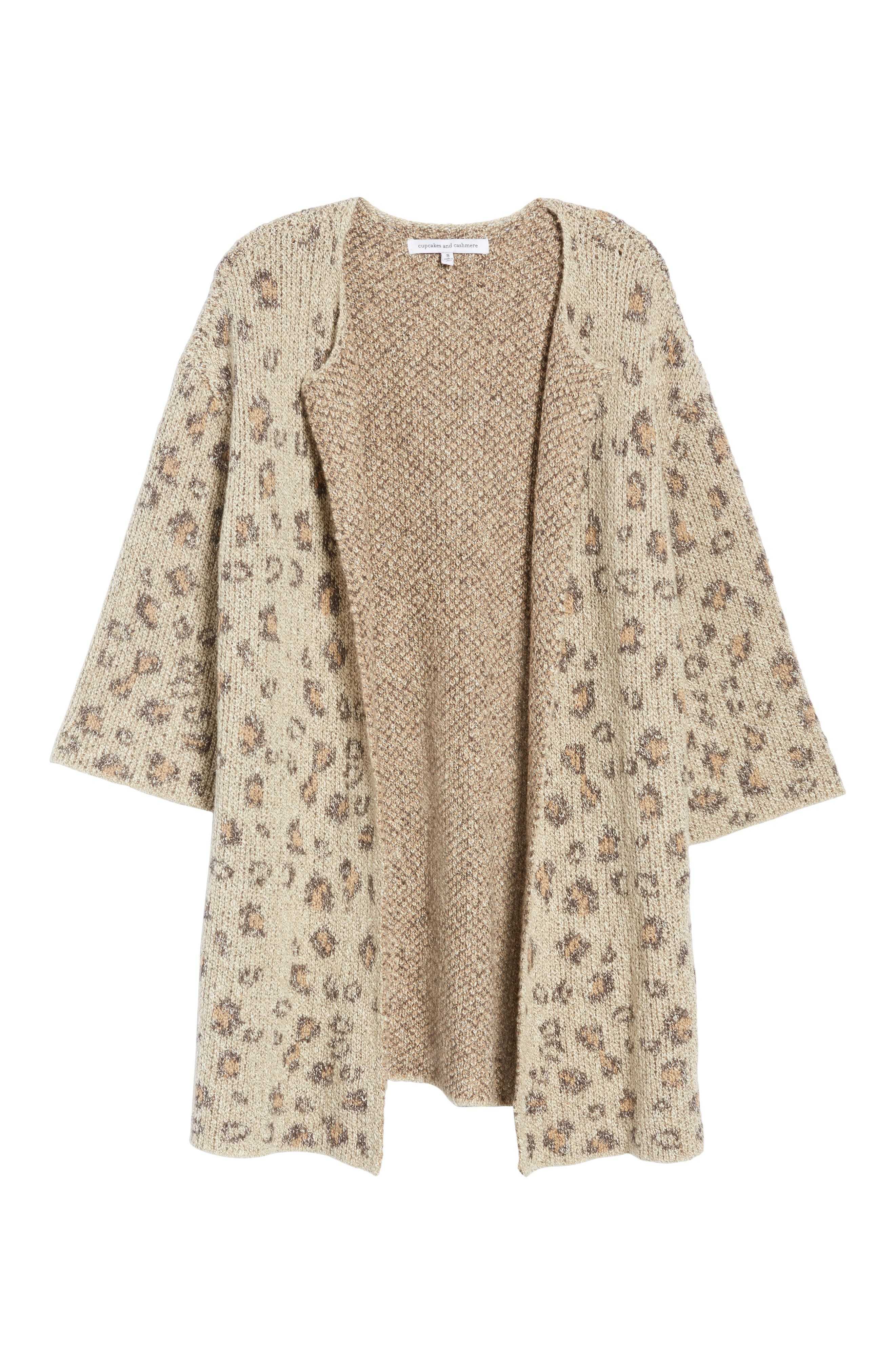 Alternate Image 6  - cupcakes and cashmere Noely Leopard Pattern Cardigan