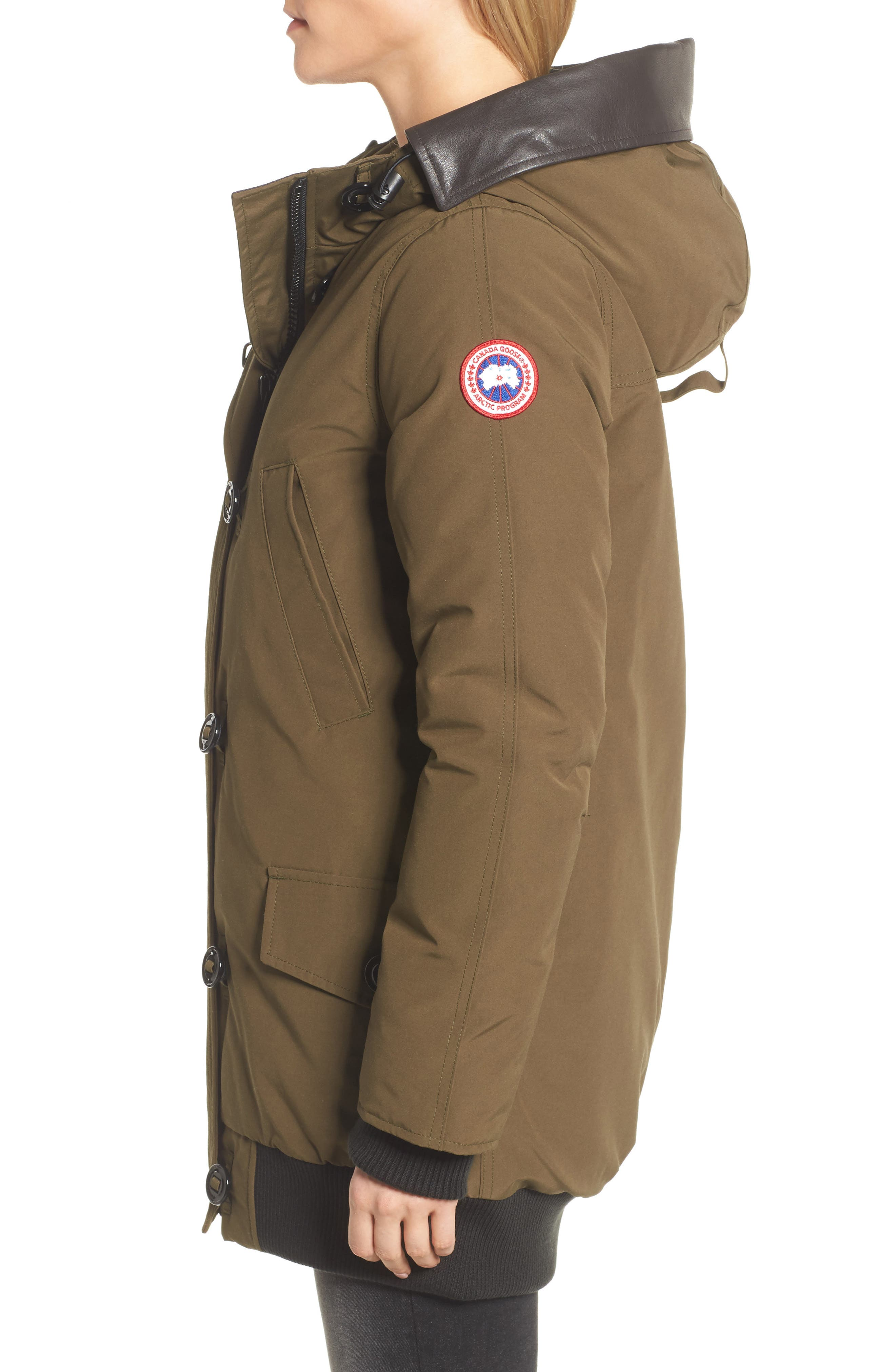 Alternate Image 3  - Canada Goose Finnegan 625-Fill Power Down Parka with Genuine Shearling Hood Lining
