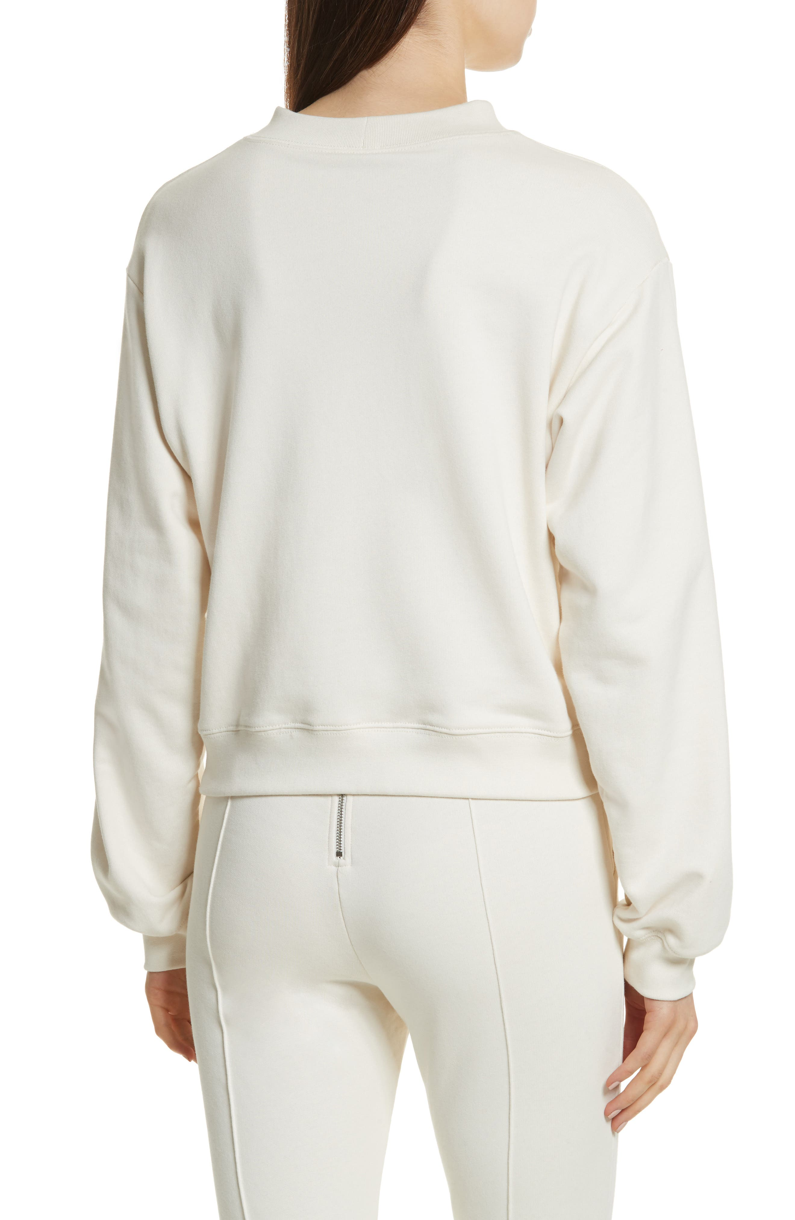 Alternate Image 2  - T by Alexander Wang Slit Front French Terry Top