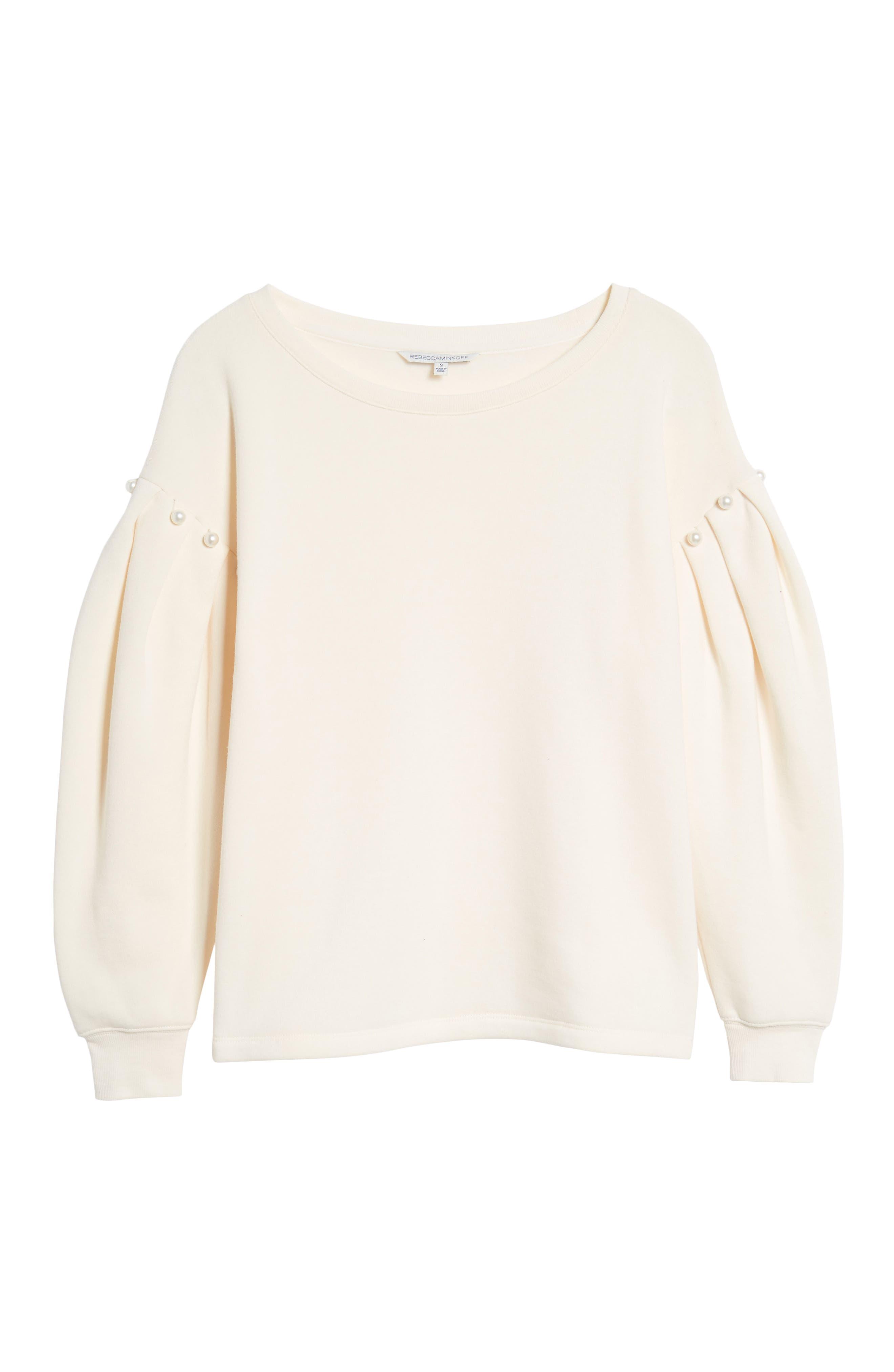 Ellison Sweatshirt,                             Alternate thumbnail 6, color,                             Off White
