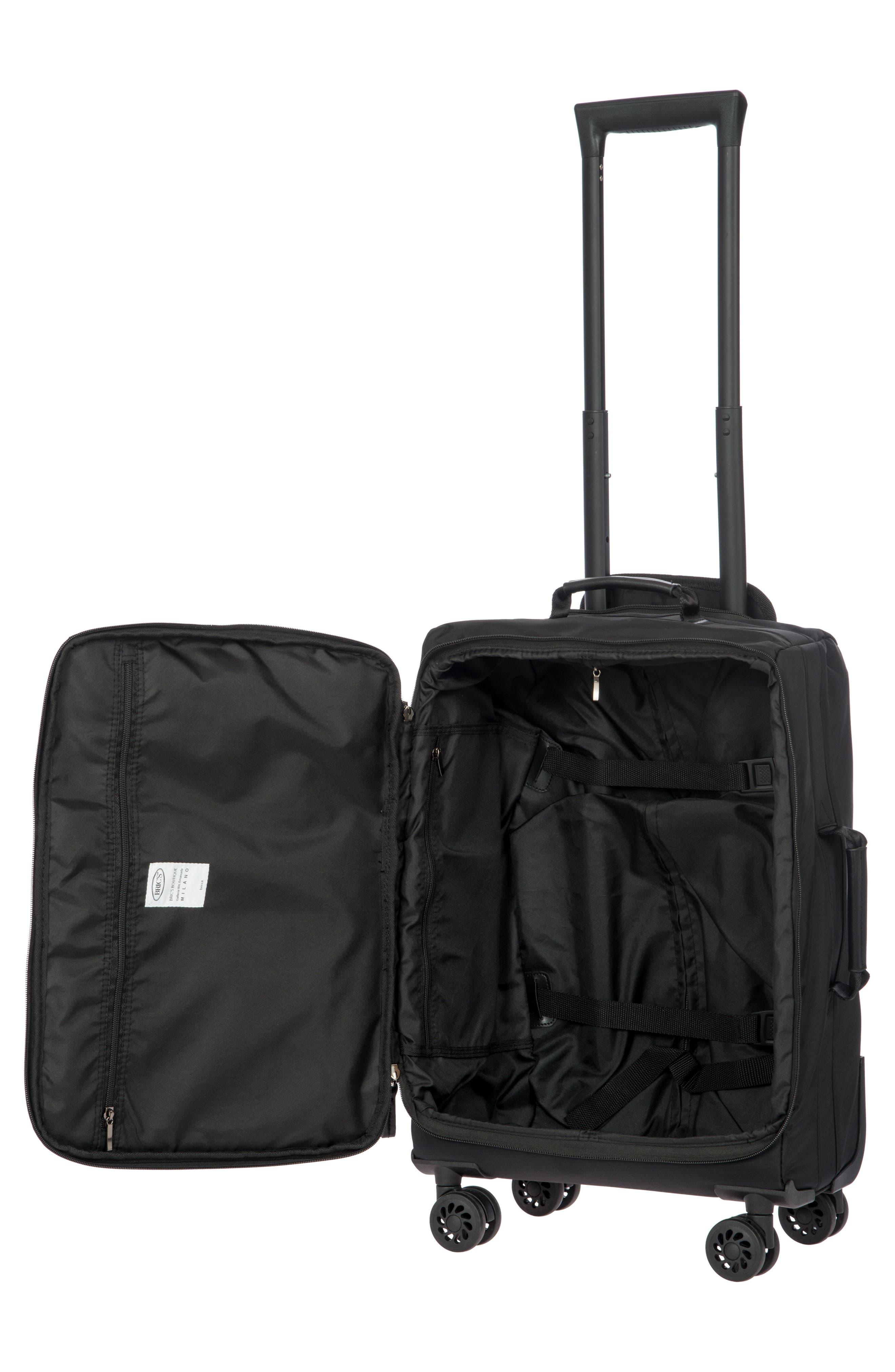 X-Bag 21-Inch Spinner Carry-On,                             Alternate thumbnail 2, color,                             Black/ Black