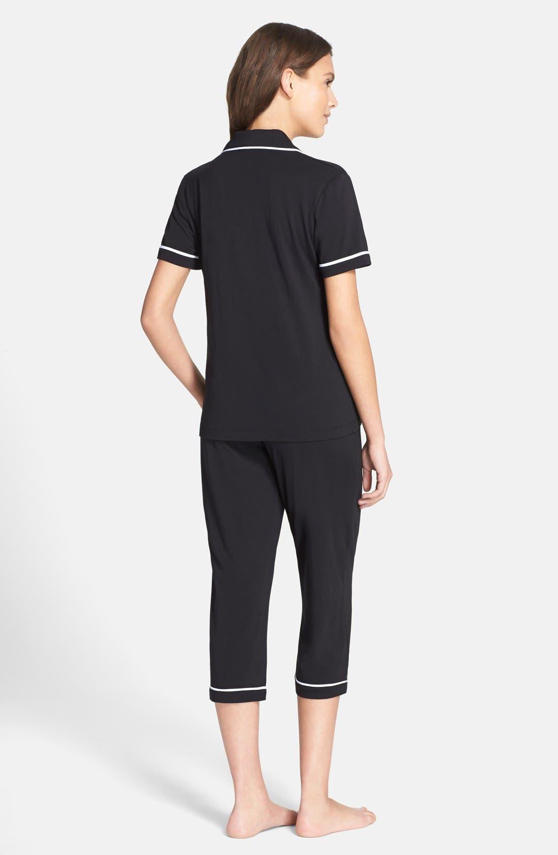Alternate Image 2  - DKNY Jersey Capri Pajamas