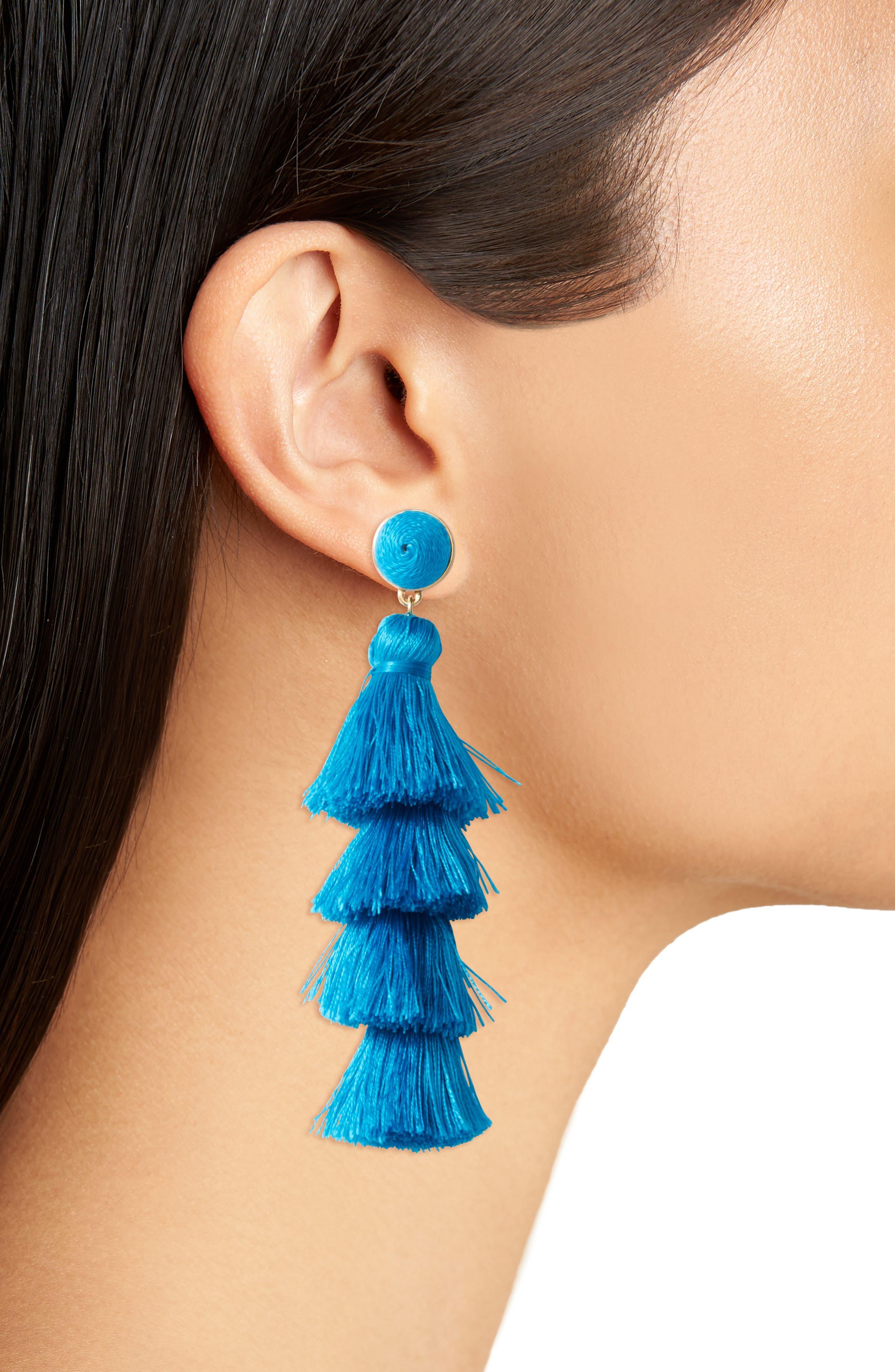 Alternate Image 2  - BaubleBar Gabriela Tassel Fringe Earrings