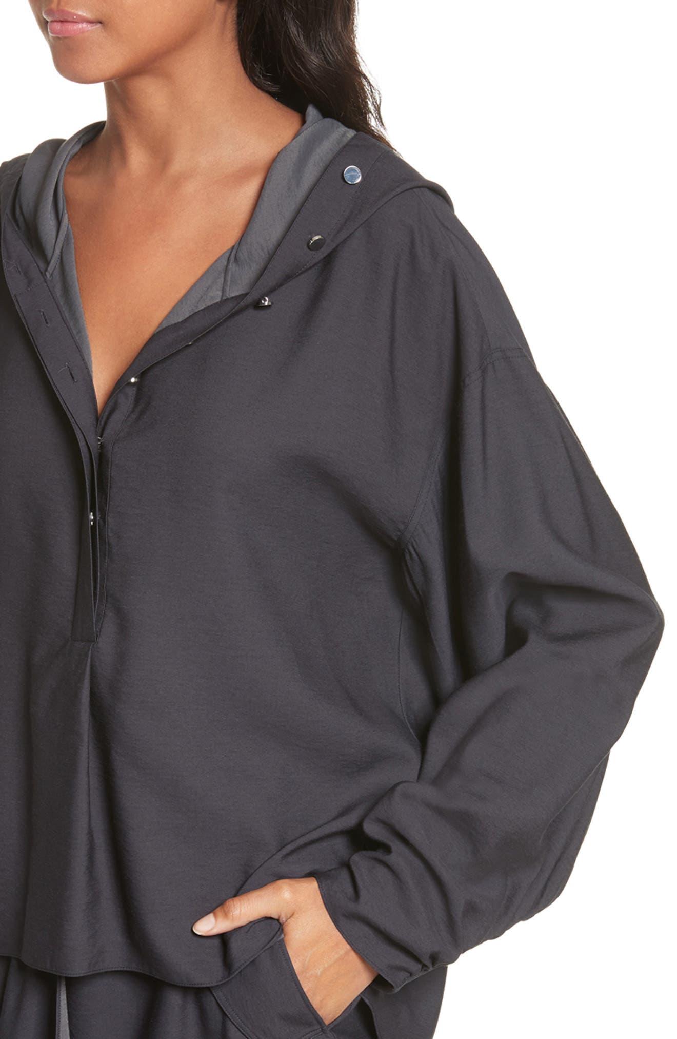Hooded Tunic,                             Alternate thumbnail 4, color,                             Black