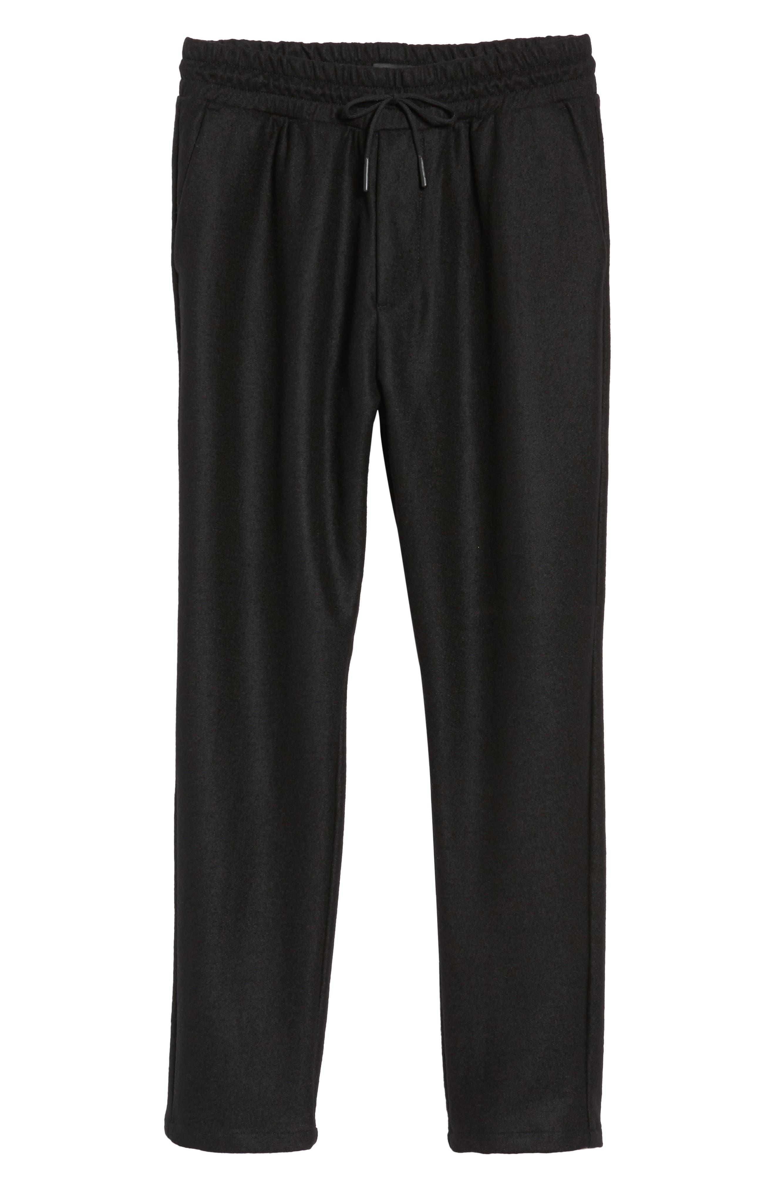 Drawstring Waist Pants,                             Alternate thumbnail 6, color,                             Black