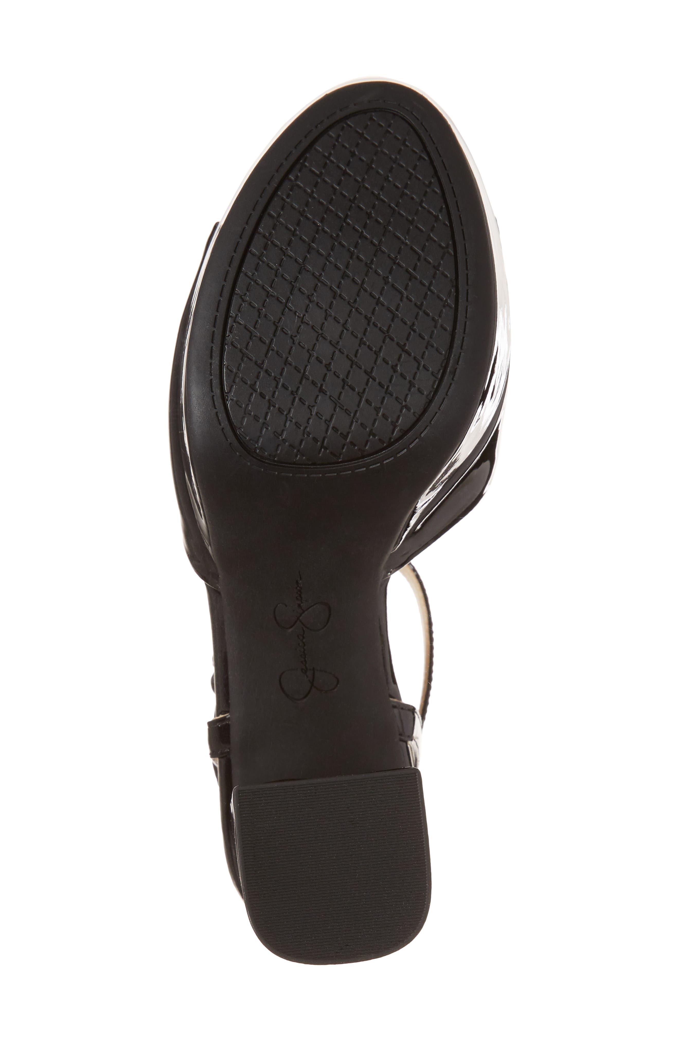 Kerrick Platform Sandal,                             Alternate thumbnail 6, color,                             Black Patent Leather